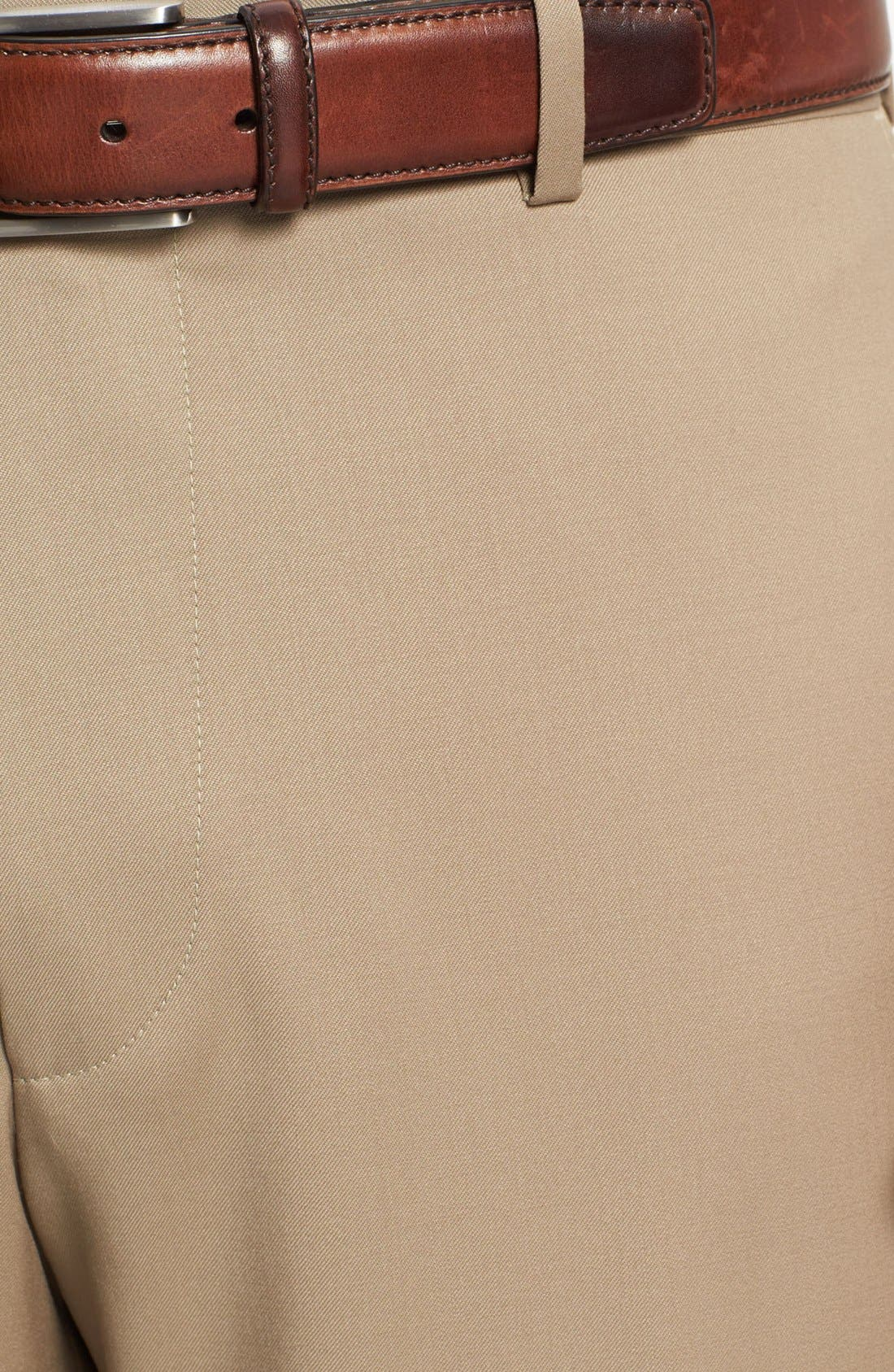 Alternate Image 3  - BOSS 'Jeffrey US' Flat Front Wool Trousers