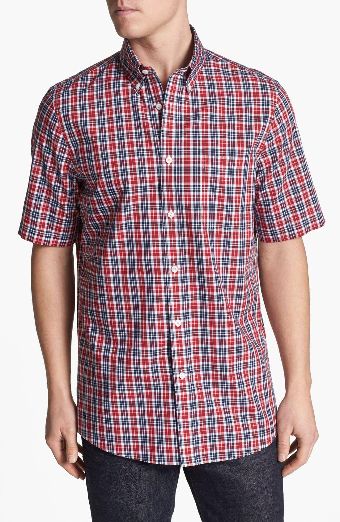 Alternate Image 1 Selected - Nordstrom Smartcare™ Short Sleeve Poplin Sport Shirt