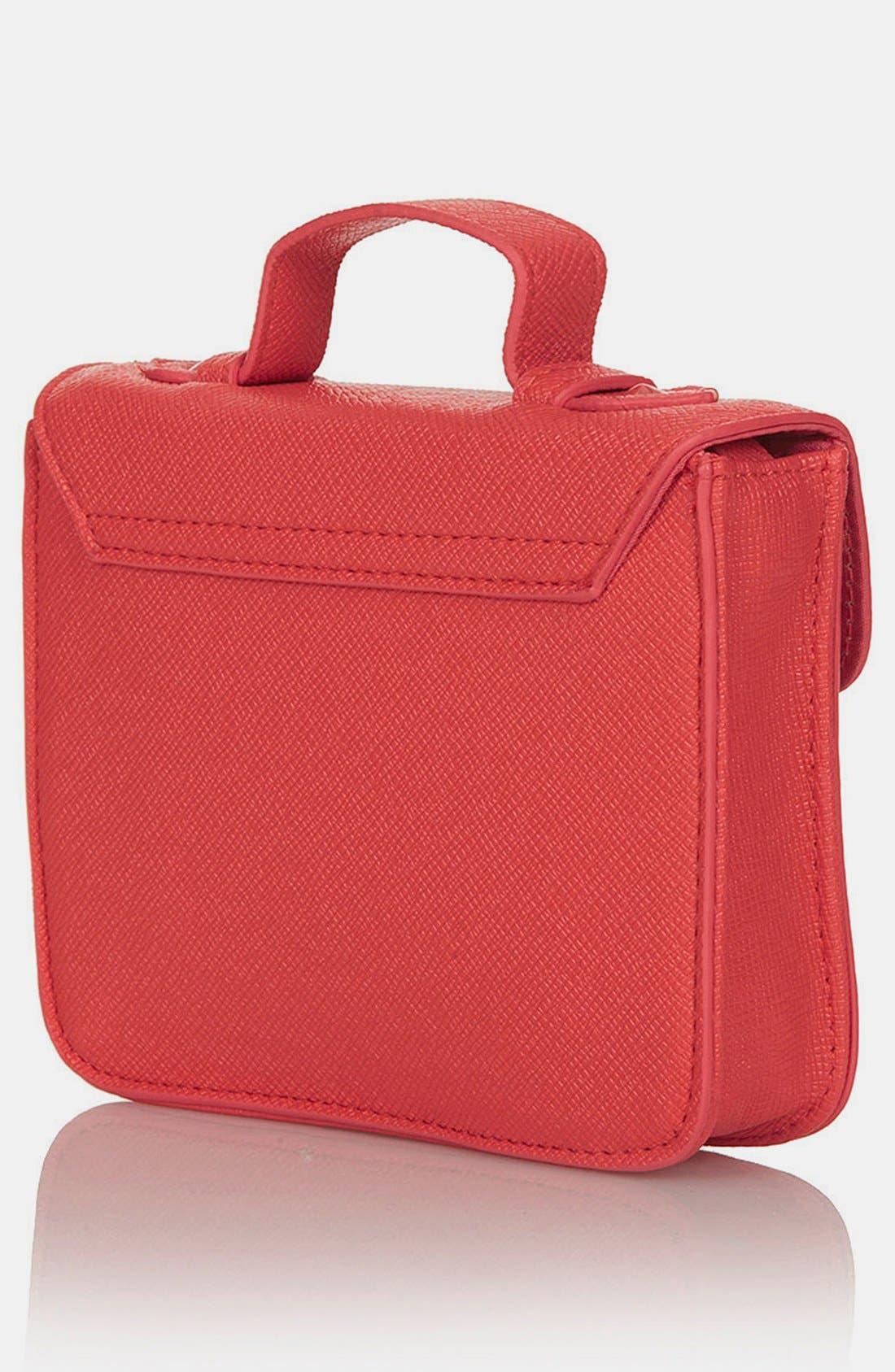 Alternate Image 4  - Topshop Faux Leather Mini Satchel
