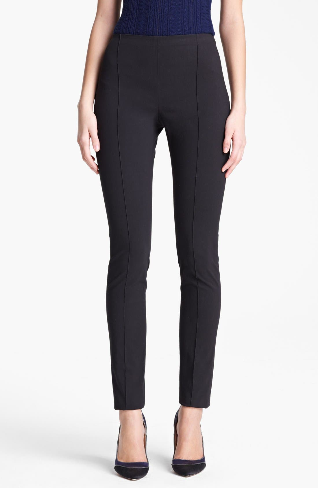 Main Image - Oscar de la Renta High Waist Slim Pants