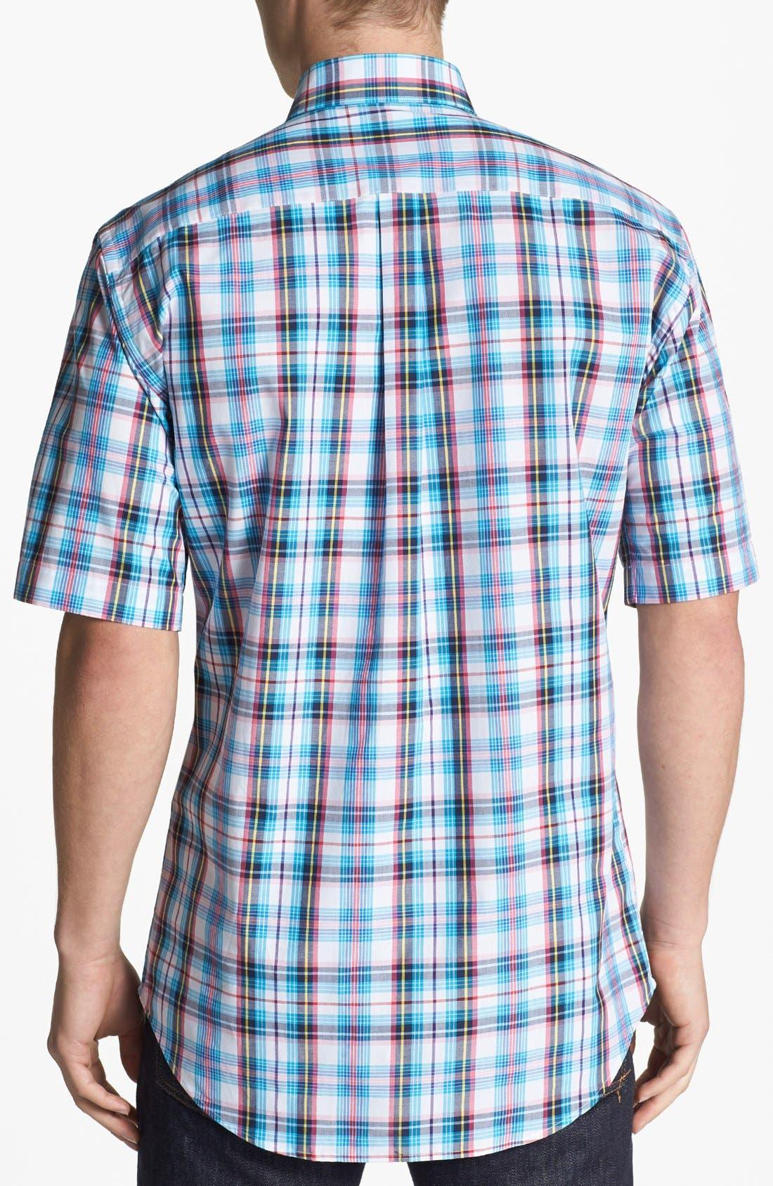 Alternate Image 2  - Peter Millar 'Nantucket' Tartan Short Sleeve Sport Shirt