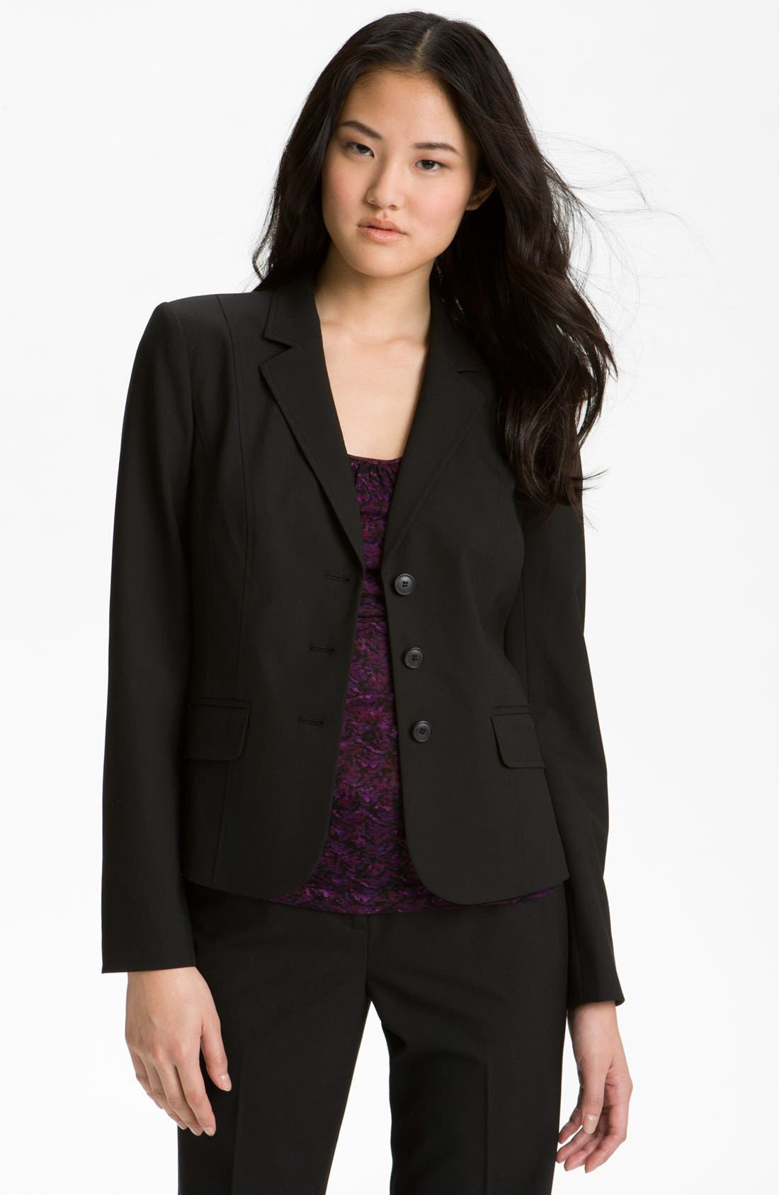 Alternate Image 1 Selected - Halogen® Three Button Jacket (Petite)