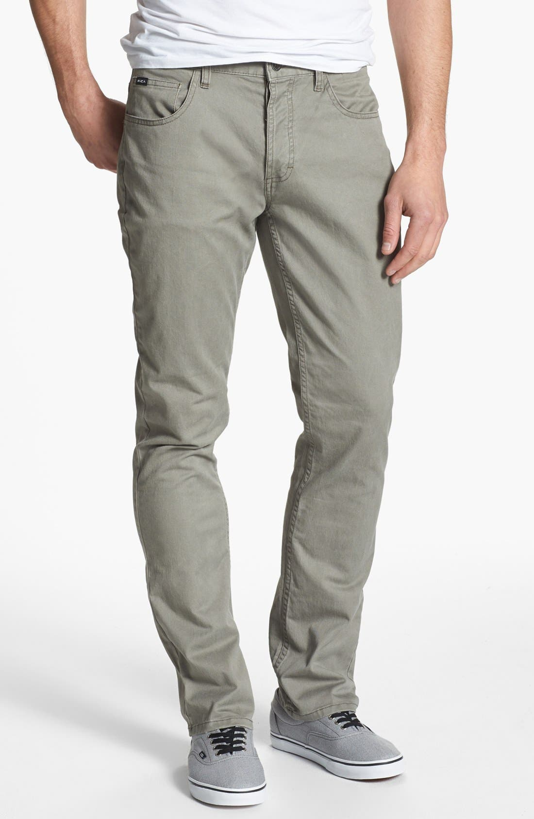 Alternate Image 1 Selected - RVCA 'Stay' Slim Fit Pants