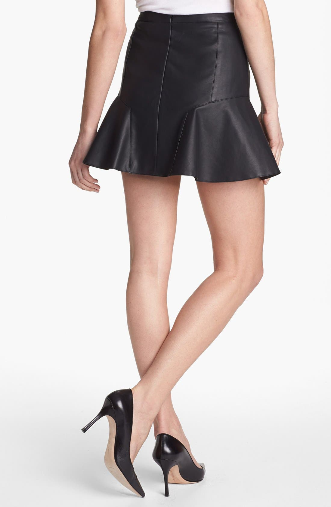 Alternate Image 2  - Remain Fluted Faux Leather Skirt