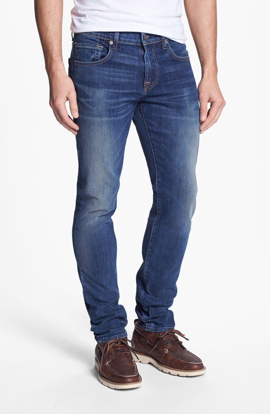 Alternate Image 2  - 7 For All Mankind® 'Paxtyn' Skinny Fit Jeans (Tinted Authentic)