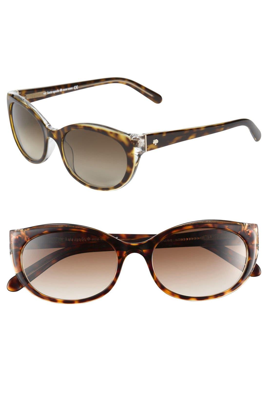 Main Image - kate spade new york 'phyllis' 52mm sunglasses