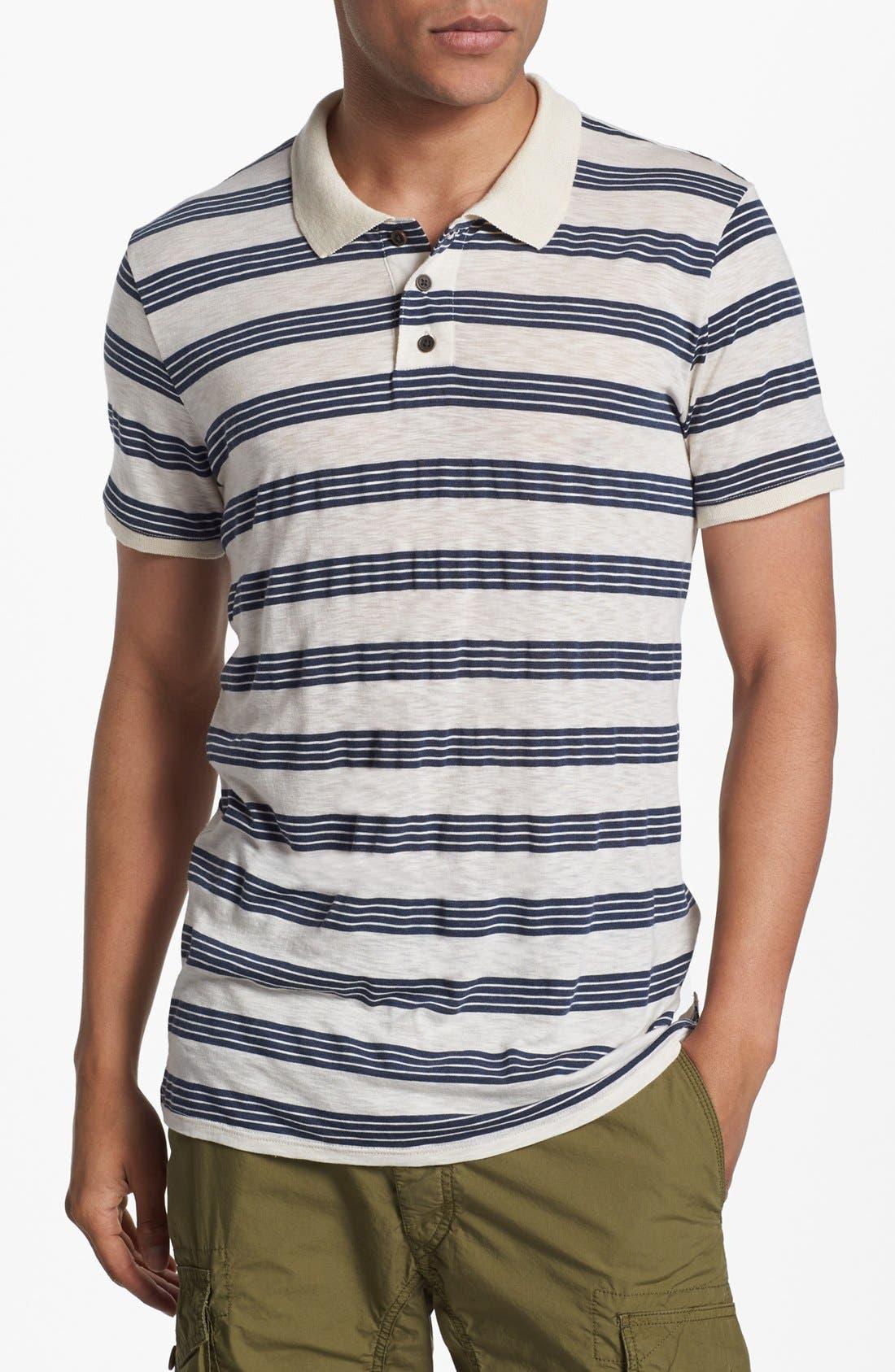 Main Image - 7 For All Mankind® Slub Stripe Jersey Polo