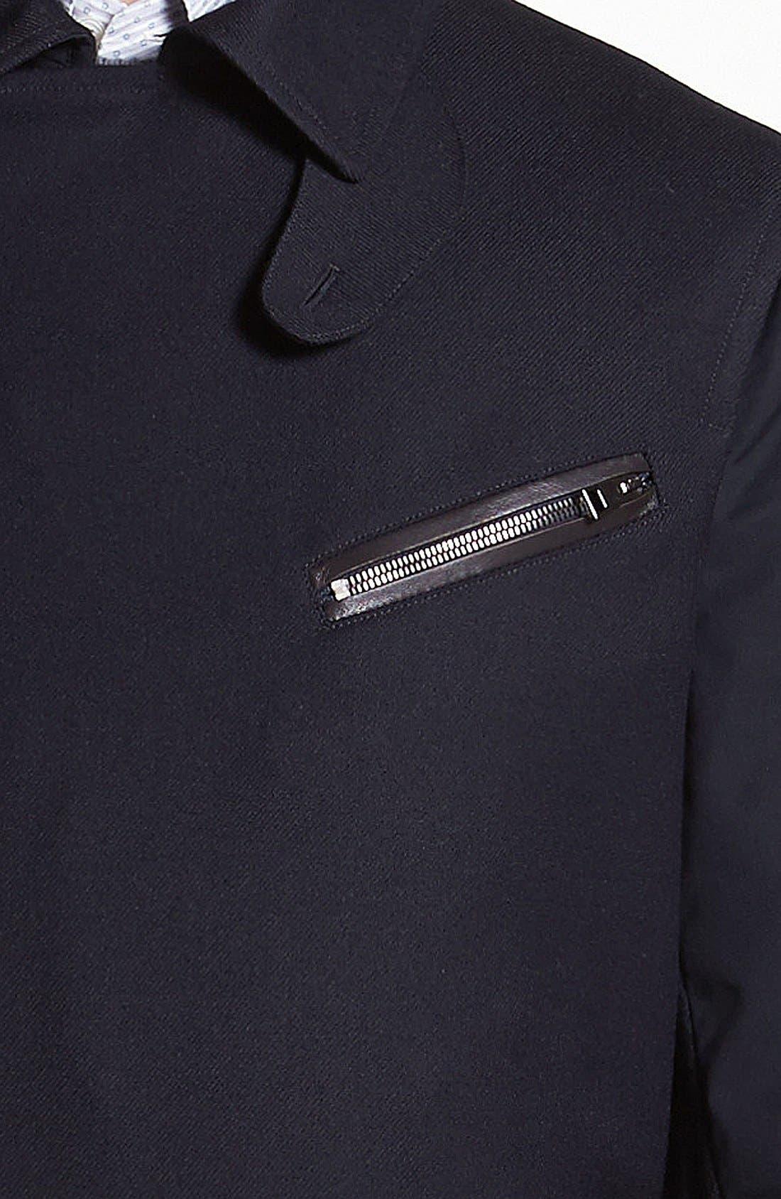 Alternate Image 3  - Salvatore Ferragamo Leather Trim Coat