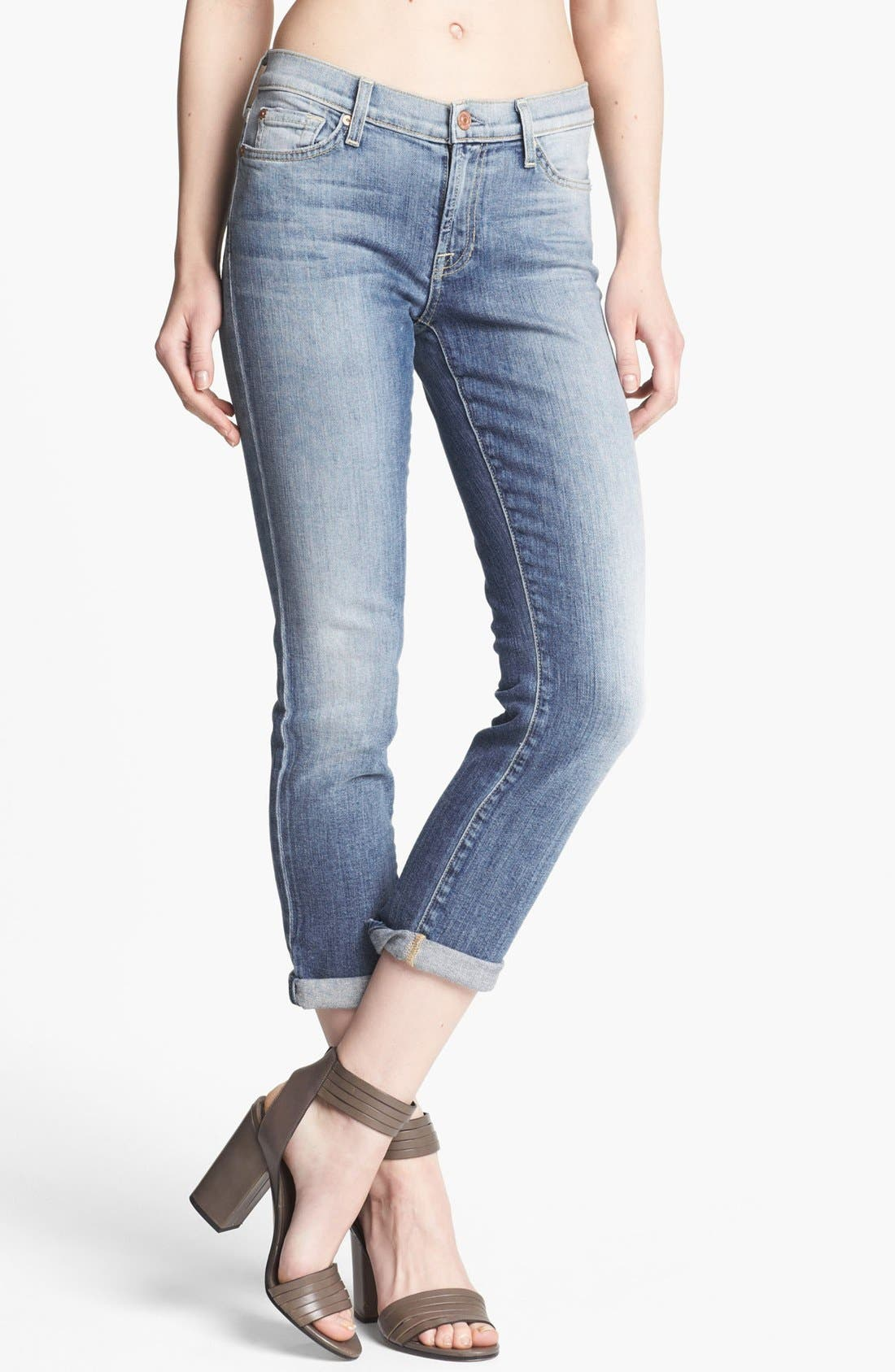Main Image - 7 For All Mankind® Crop Skinny Jeans (Summer Canyon Mountain)