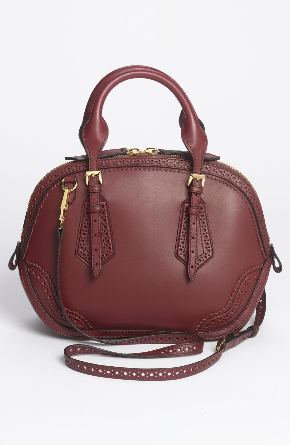 Alternate Image 4  - Burberry 'Orchard - Small' Brogued Leather Satchel