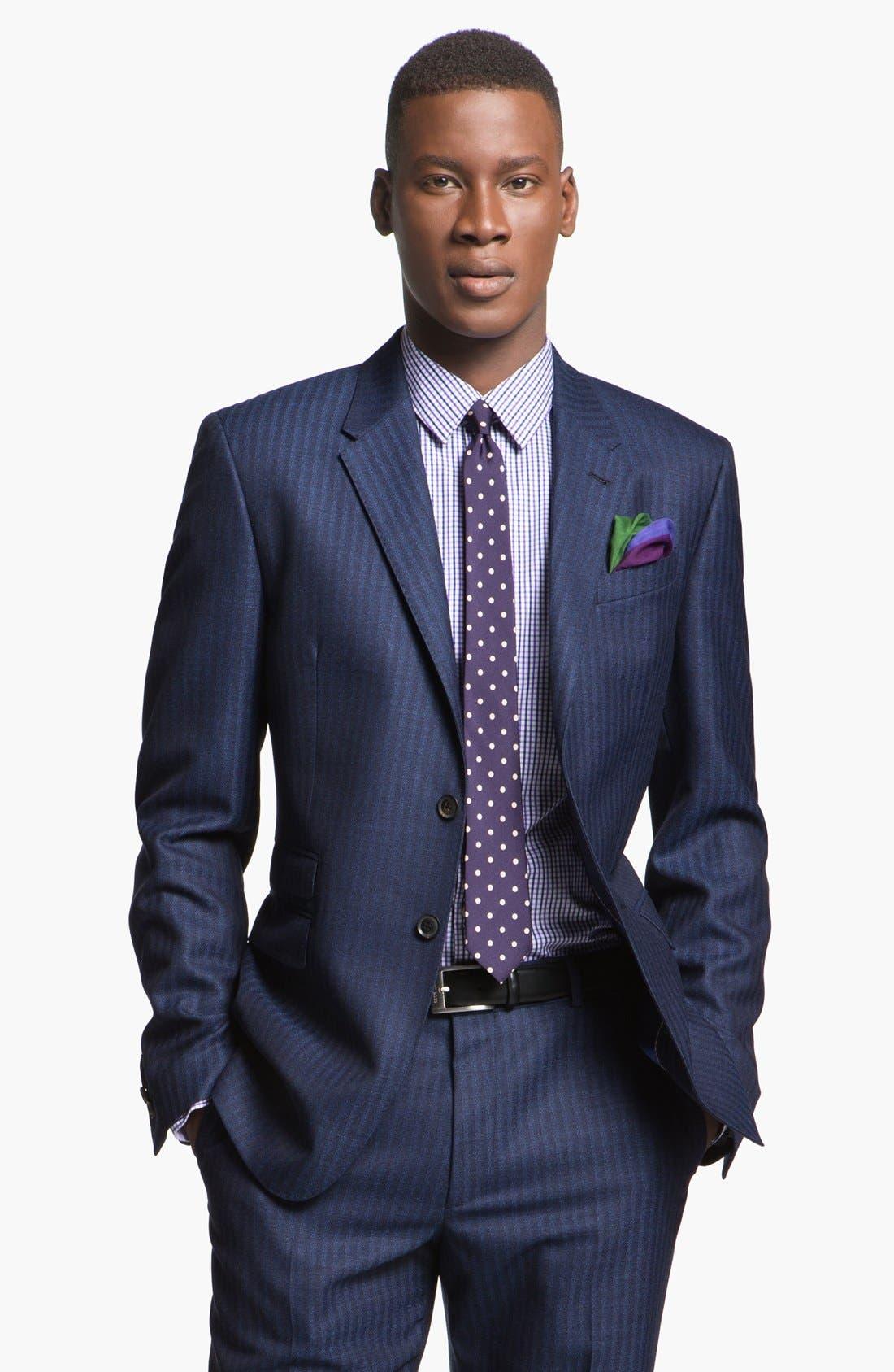 Alternate Image 4  - Paul Smith London Slim Fit Stripe Wool Suit