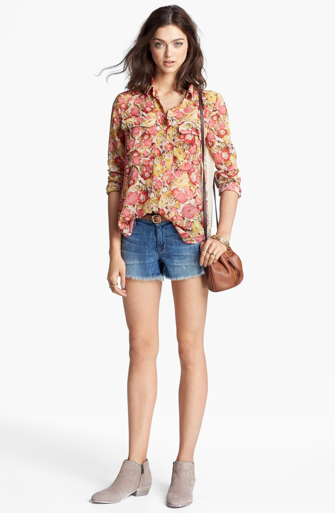 Alternate Image 1 Selected - KUT from the Kloth Top & Hudson Jeans Denim Shorts