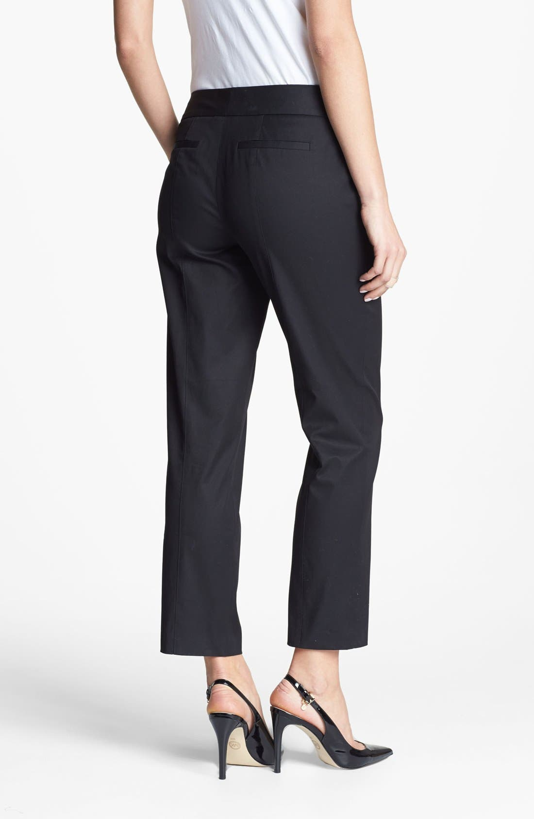Alternate Image 2  - Classiques Entier® 'New Chicca' Tab Front Pants