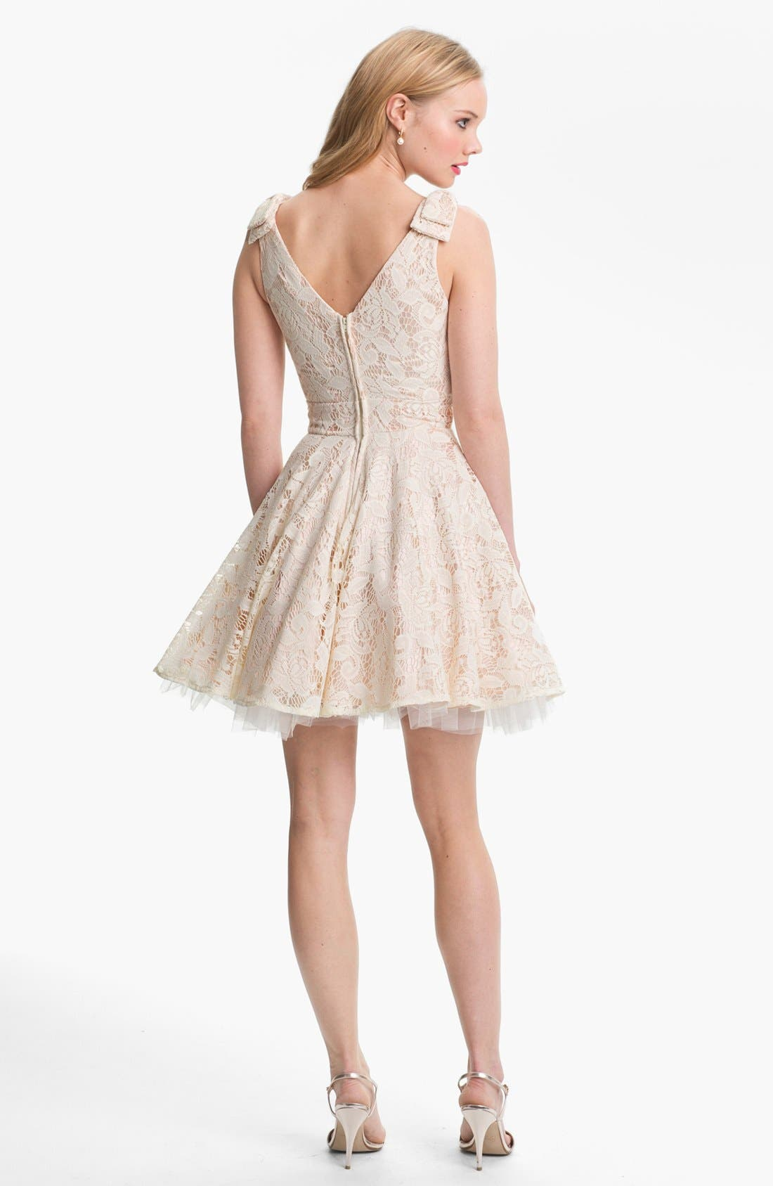 Alternate Image 2  - Way-In Lace Skater Dress & Accessories