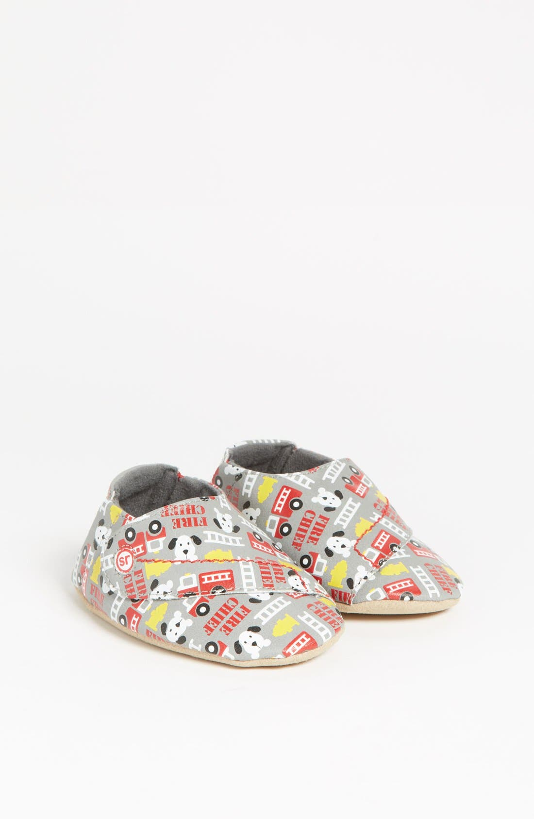 Alternate Image 1 Selected - Stride Rite 'Flashing Fire Truck' Crib Shoe (Baby) (Online Only)