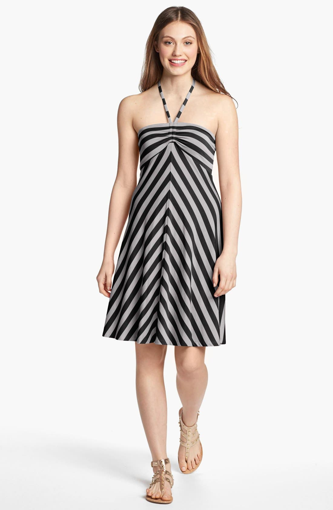 Alternate Image 1 Selected - Caslon® Bandeau Stripe Halter Dress