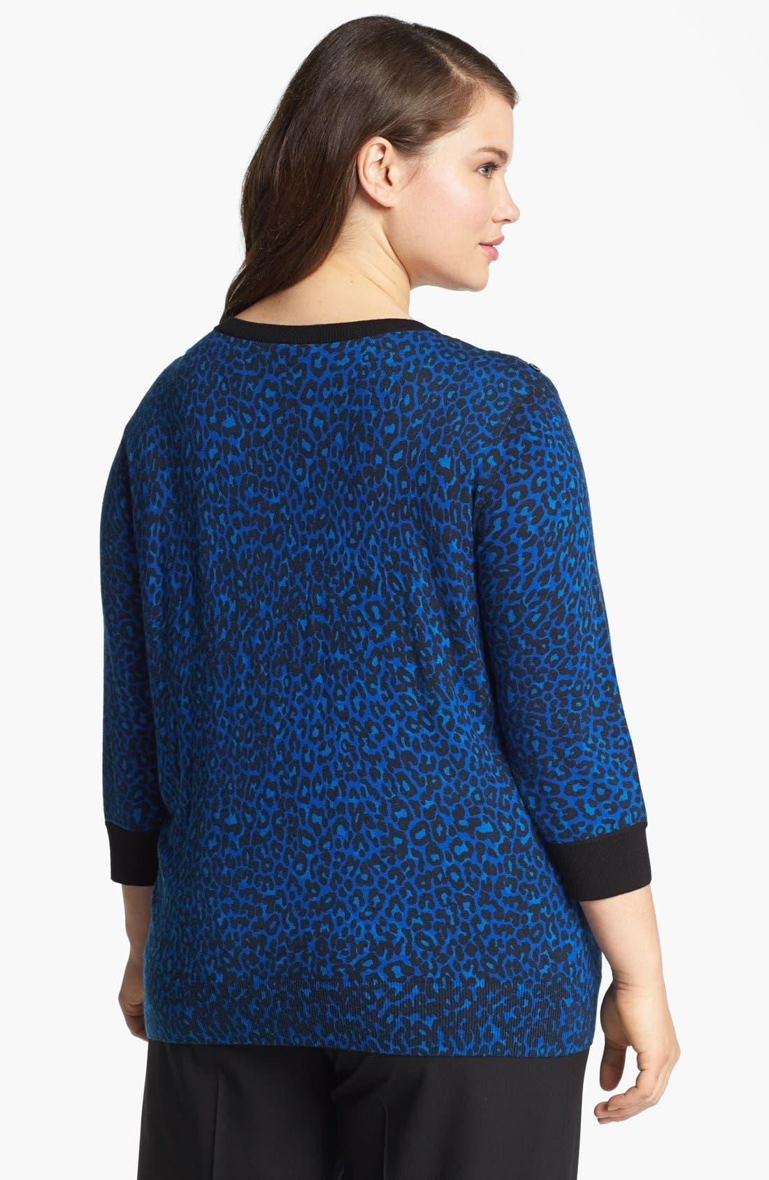 Alternate Image 2  - Sejour Print Pullover Sweater (Plus Size)