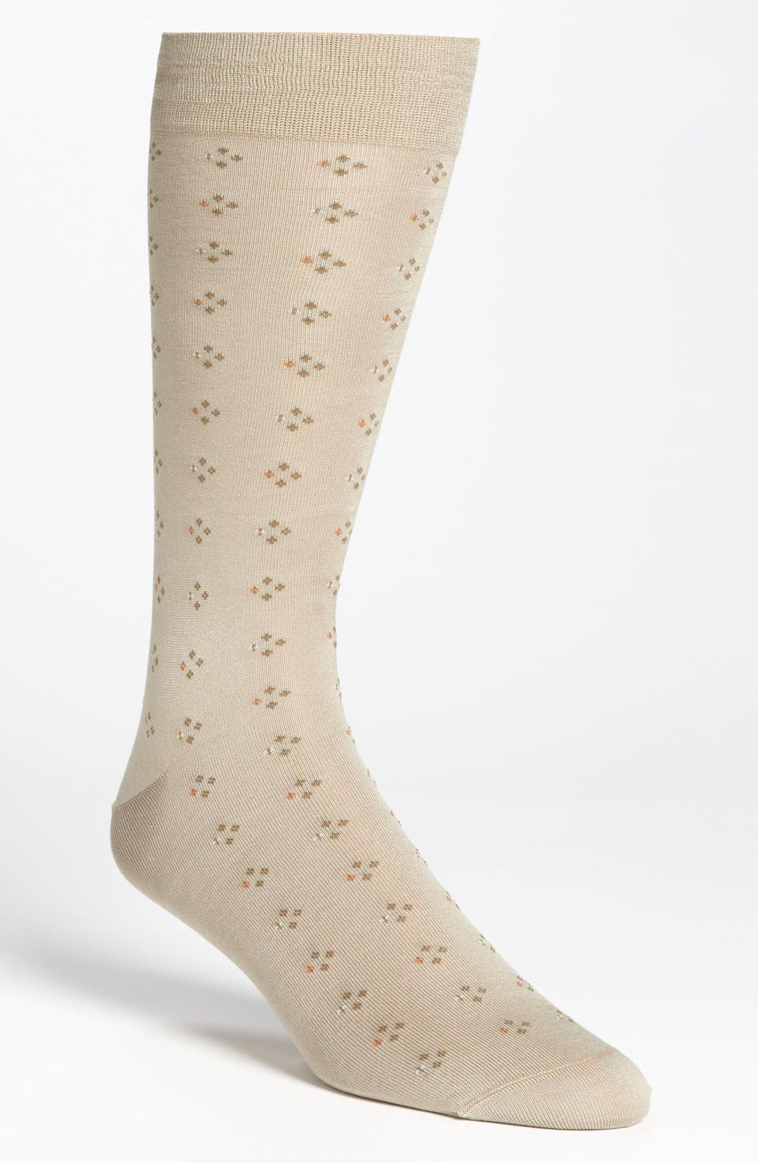 Main Image - Brooks Brothers Double Neat Dotted Crew Socks