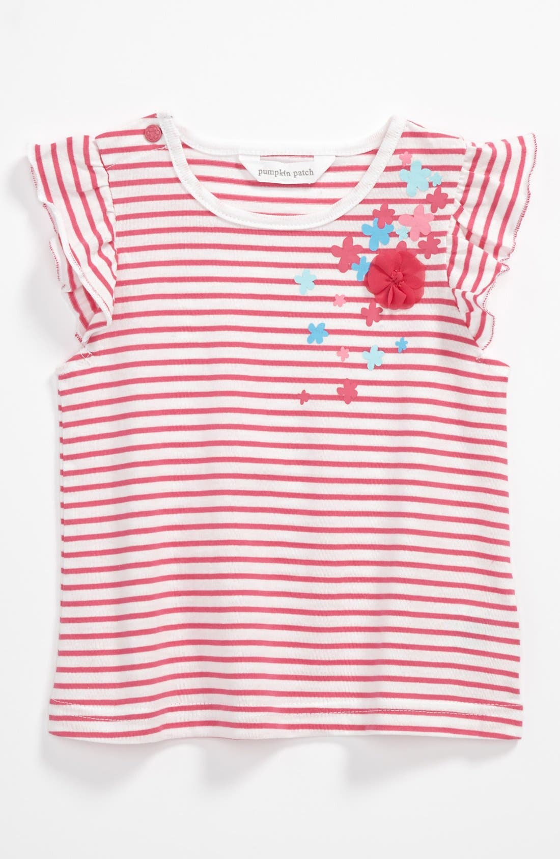 Main Image - Pumpkin Patch Stripe Top (Baby)