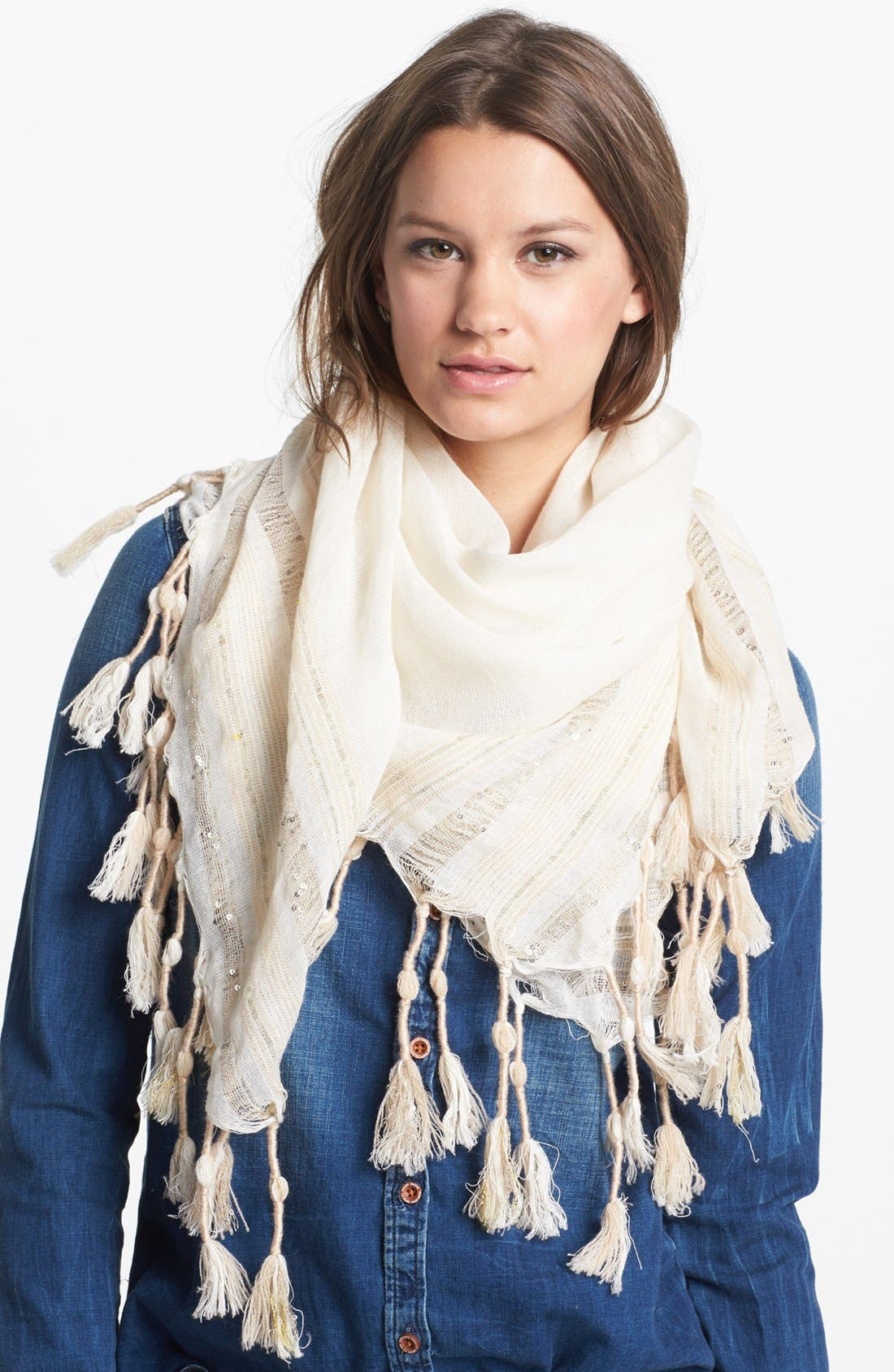 Alternate Image 1 Selected - Vince Camuto Sequin Stripe Scarf