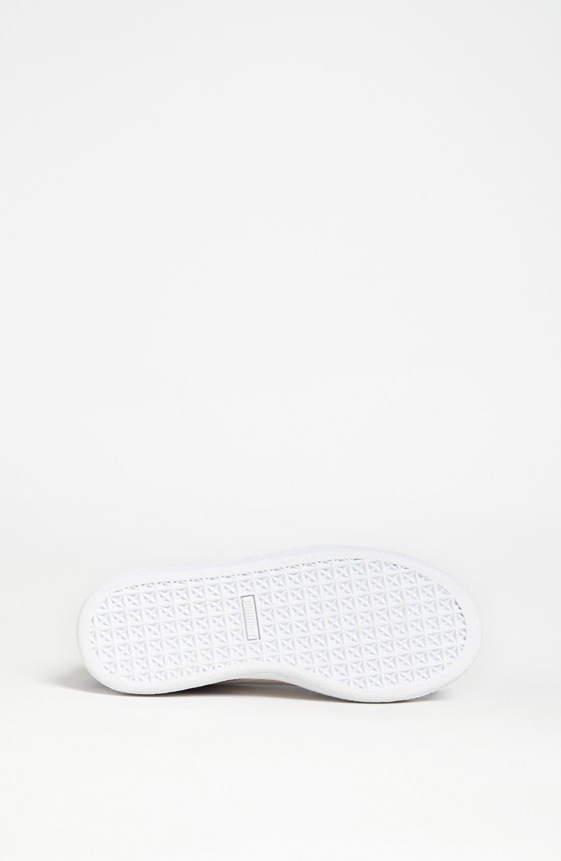 Alternate Image 4  - PUMA 'Jr.' Suede Sneaker (Toddler, Little Kid & Big Kid)