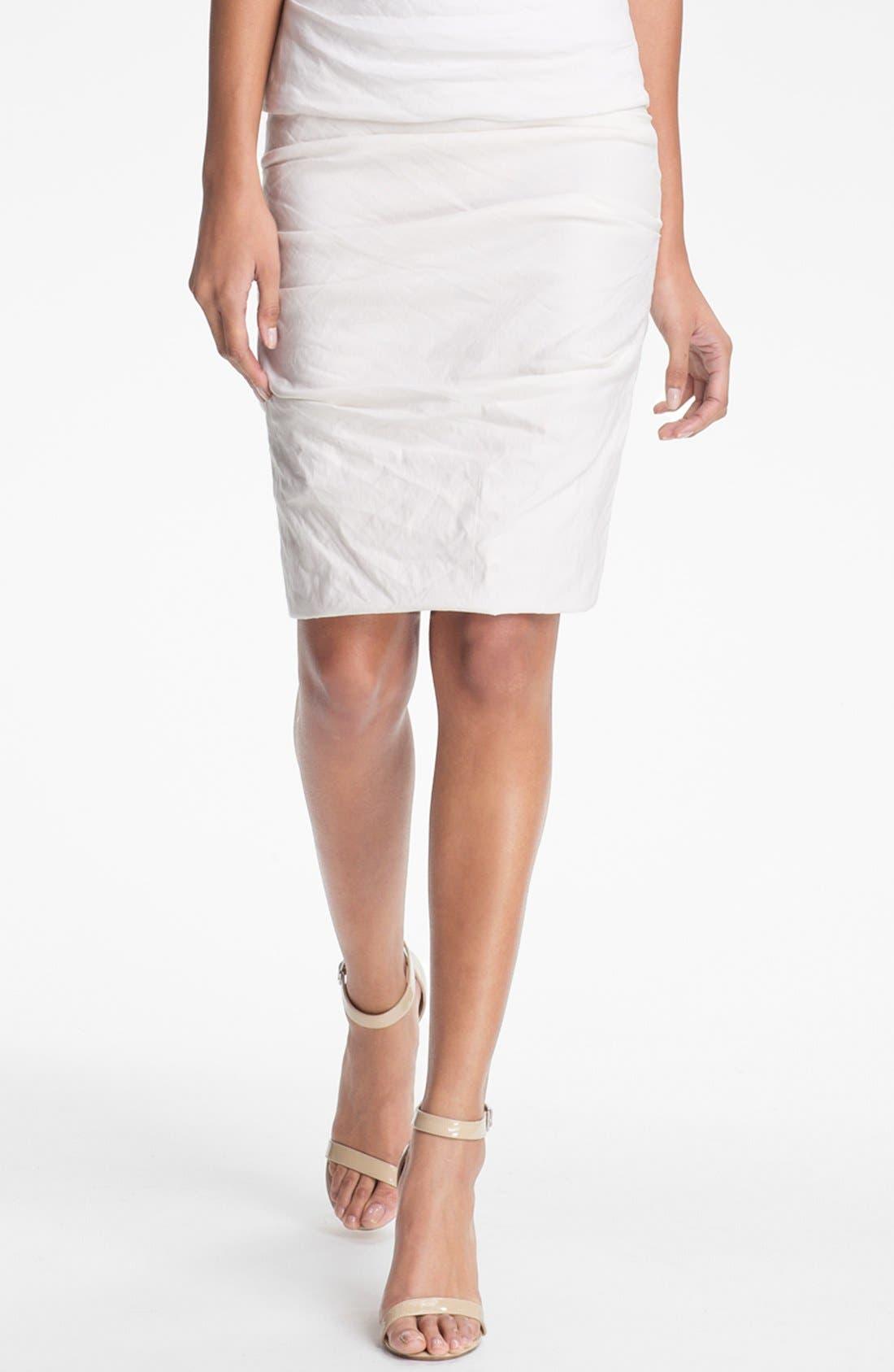 Alternate Image 1 Selected - Nicole Miller Shimmer Pencil Skirt