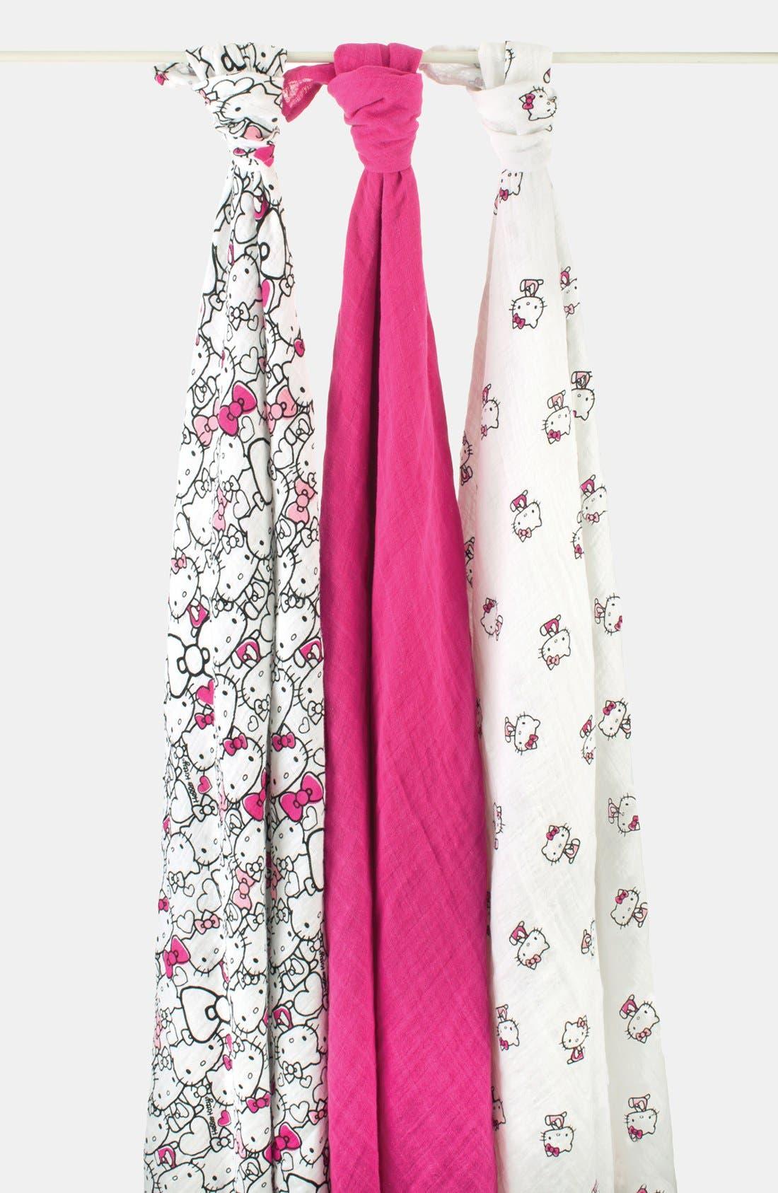Main Image - aden + anais Hello Kitty® Swaddling Cloths (3-Pack)