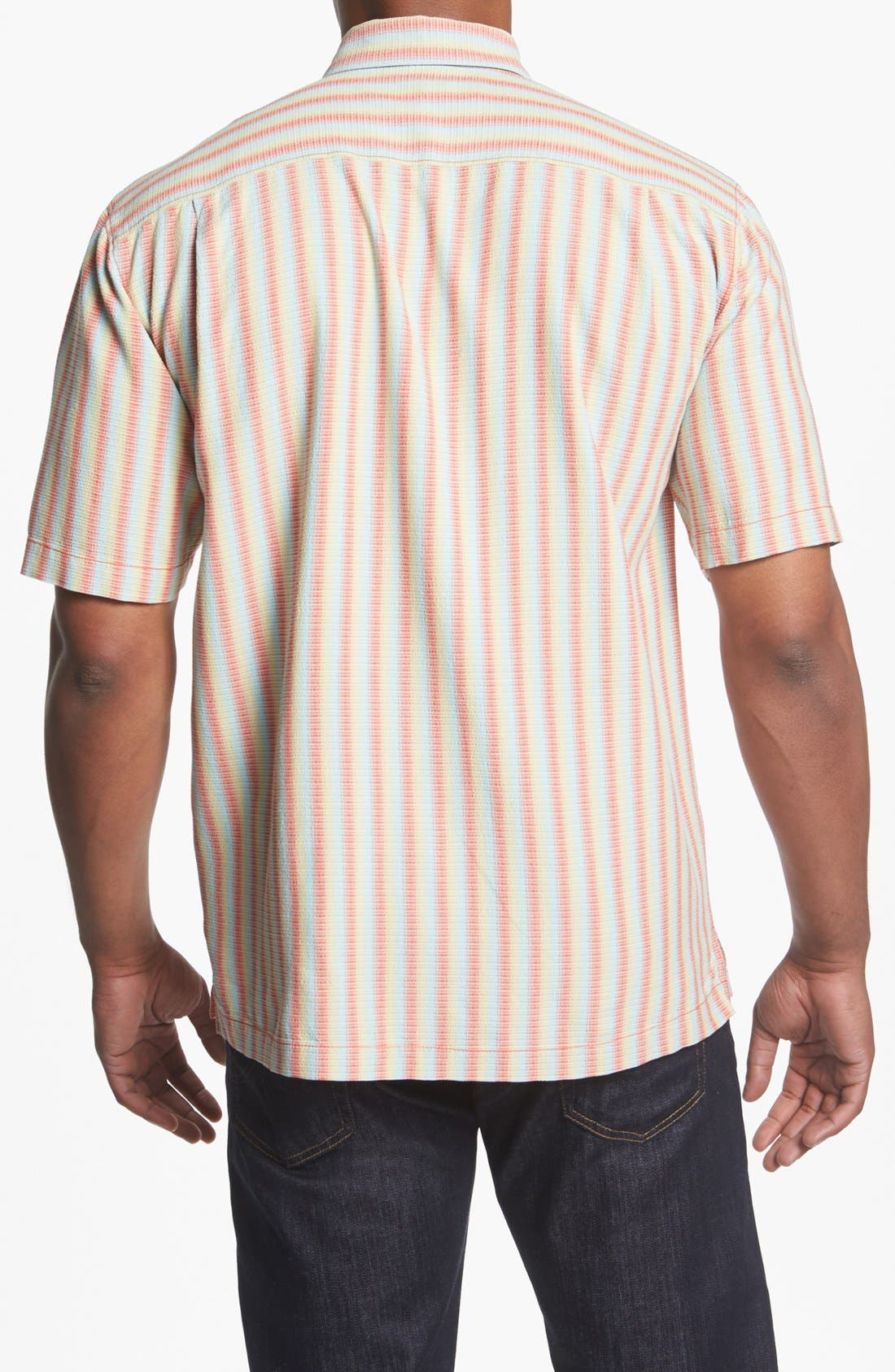 Alternate Image 2  - Tommy Bahama 'Dancing with the Stripes' Silk Campshirt