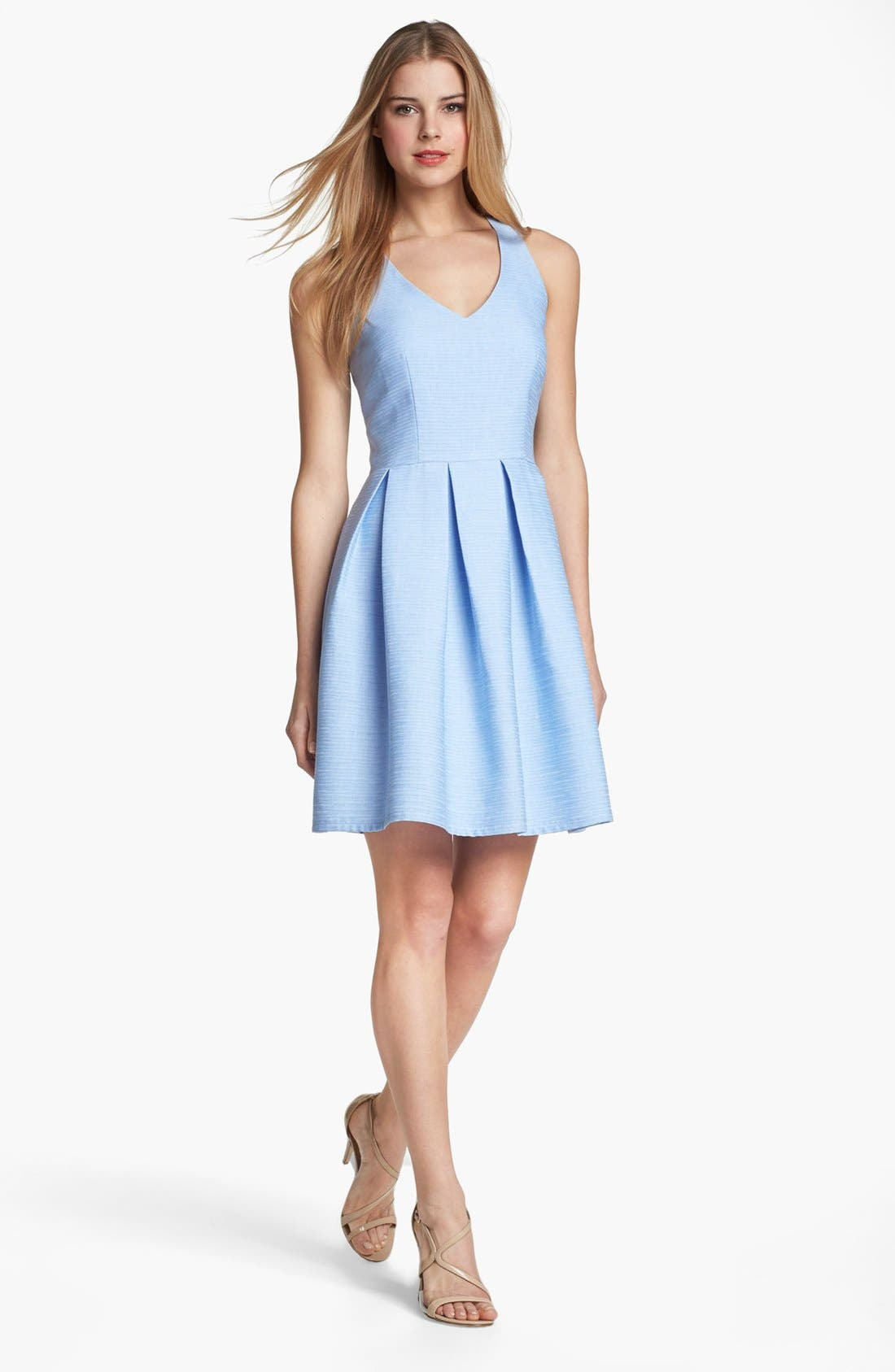 Alternate Image 1 Selected - Taylor Dresses Cutout Detail Fit & Flare Dress