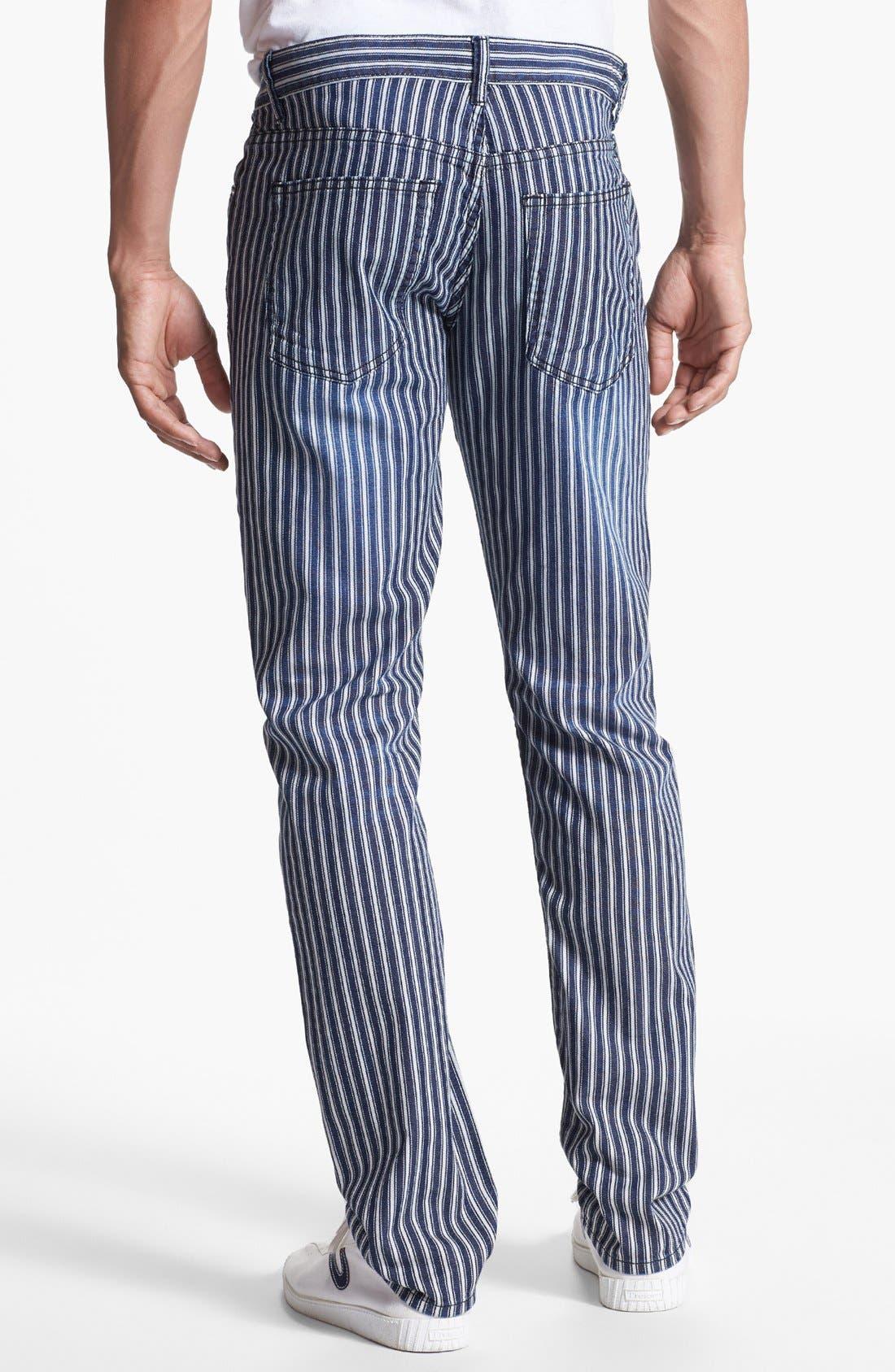 Alternate Image 2  - Williamsburg Garment Company 'Grand Street' Slim Fit Jeans (Engineer Stripe)