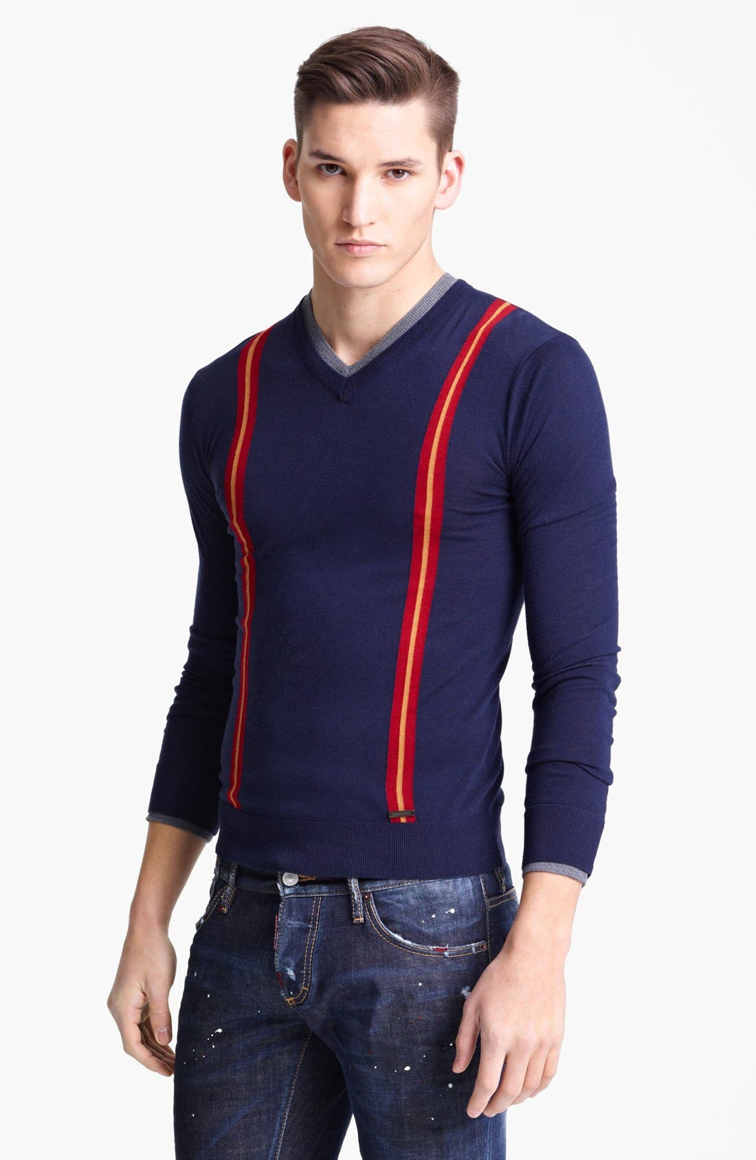 Main Image - Dsquared2 V-Neck Wool Sweater