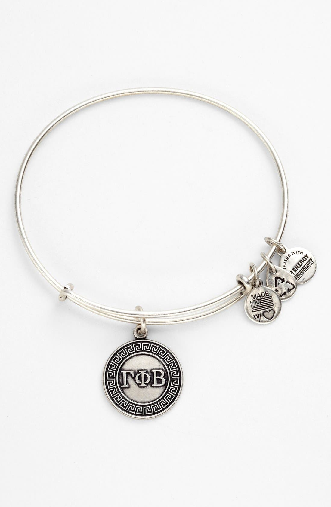 Alternate Image 1 Selected - Alex and Ani 'Gamma Phi Beta' Expandable Wire Bangle