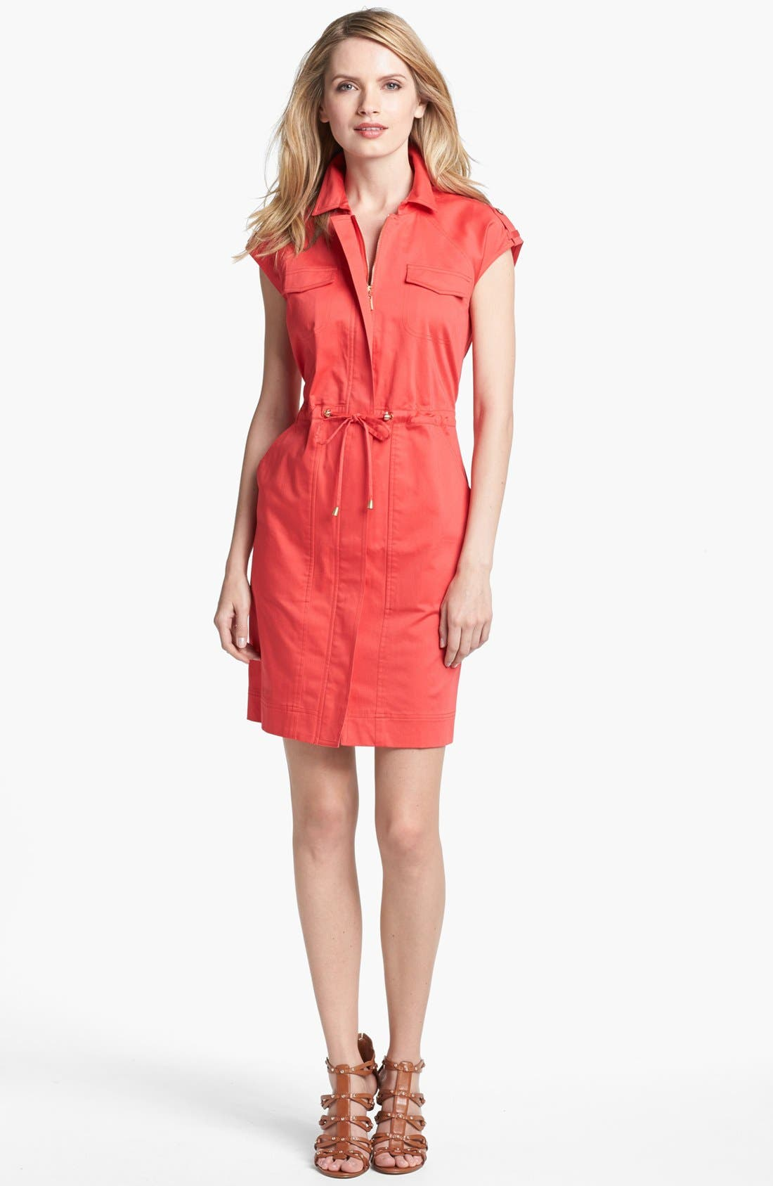 Alternate Image 1 Selected - Ellen Tracy Front Zip Shirtdress