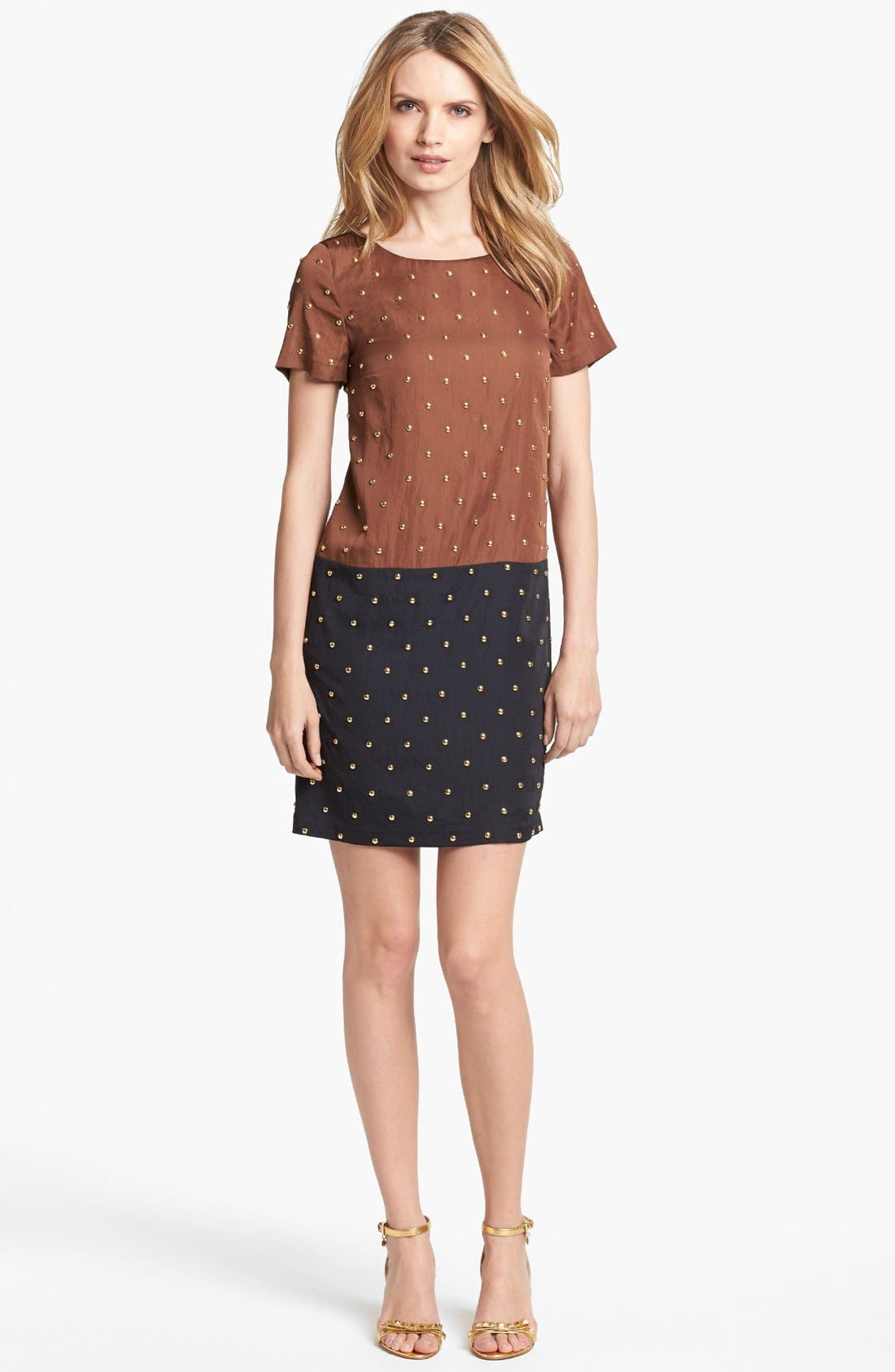 Alternate Image 1 Selected - MICHAEL Michael Kors Studded Colorblock Shift Dress