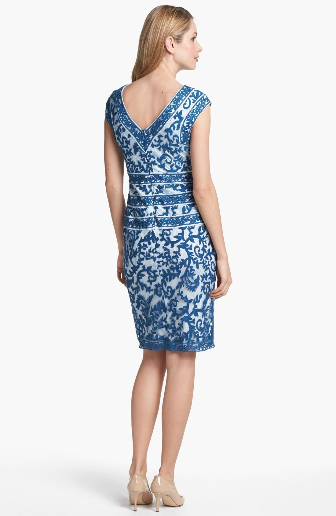 Alternate Image 2  - Tadashi Shoji Embroidered Dress