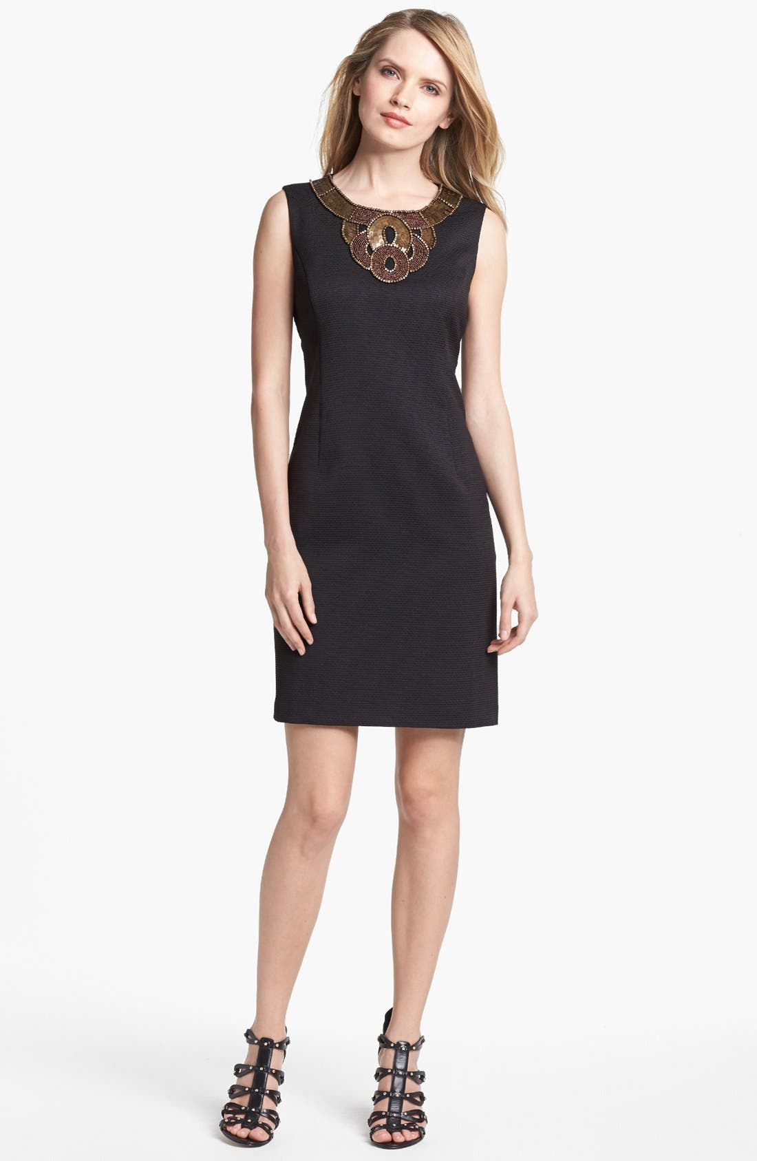 Main Image - Ellen Tracy Sleeveless Pique Shift