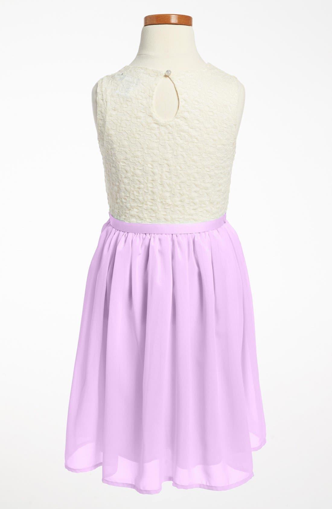 Alternate Image 2  - Zunie Lace Bodice Dress (Little Girls & Big Girls)