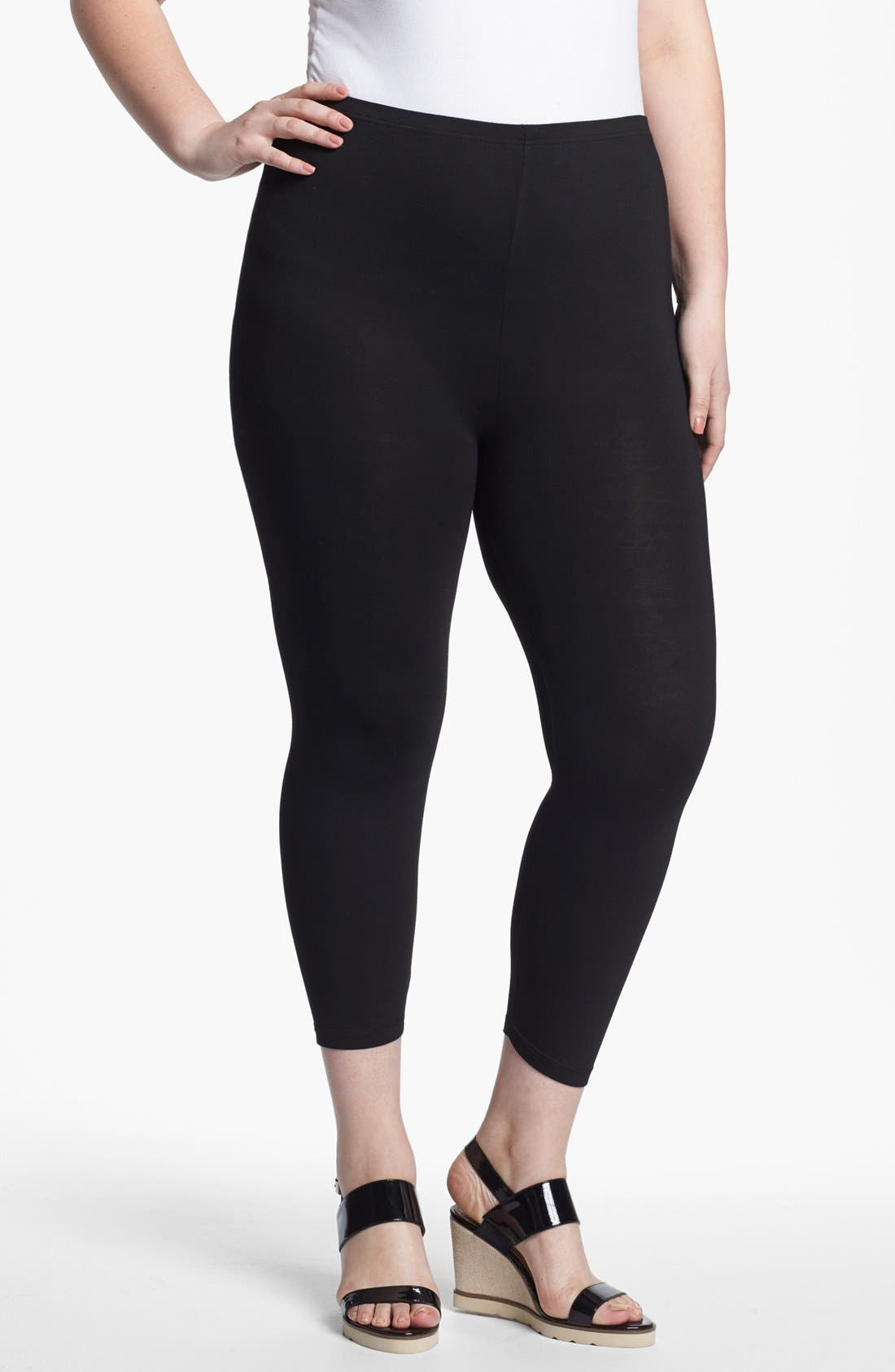Alternate Image 1 Selected - Evans Ankle Leggings (Plus Size)