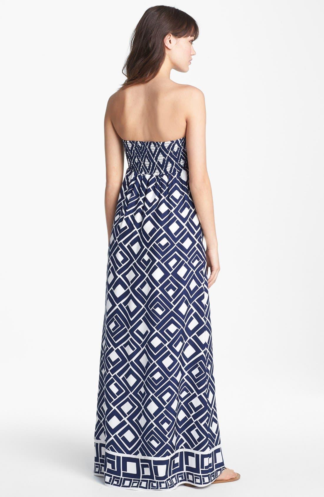 Alternate Image 2  - ALICE & TRIXIE 'Fontaine' Print Silk Maxi Dress