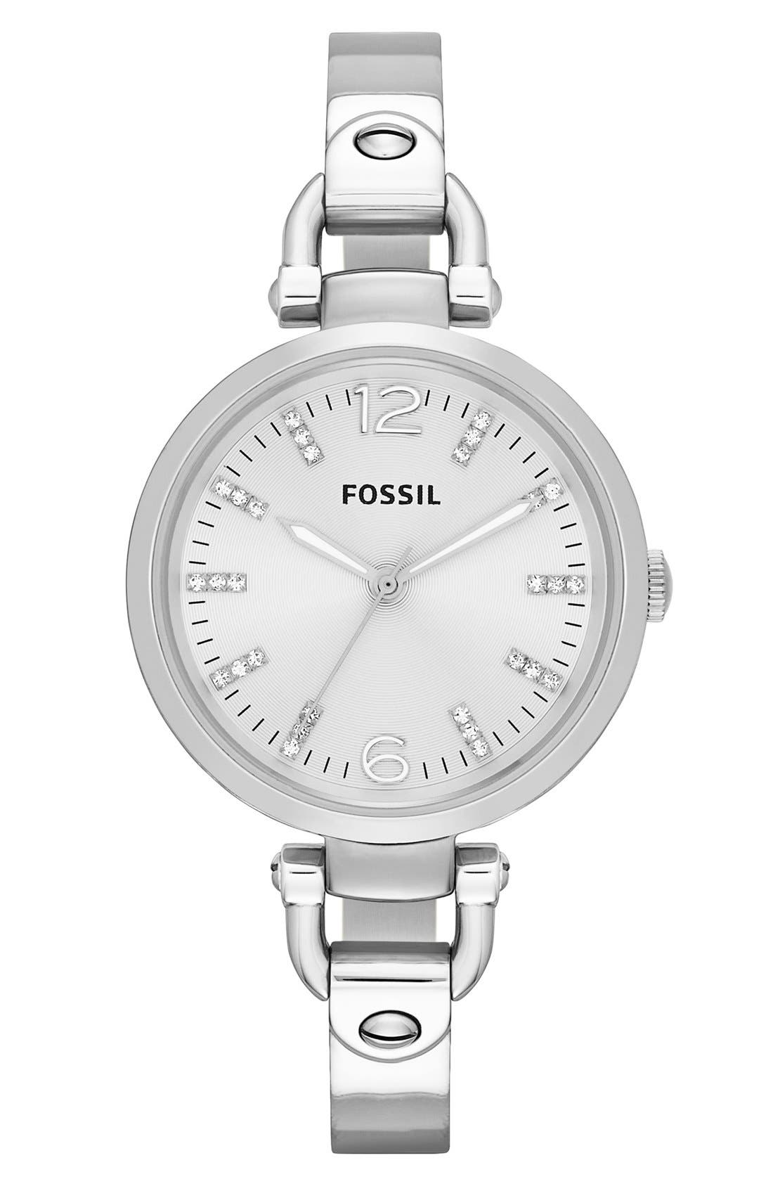 Main Image - Fossil 'Georgia' Tonal Dial Bangle Watch, 32mm