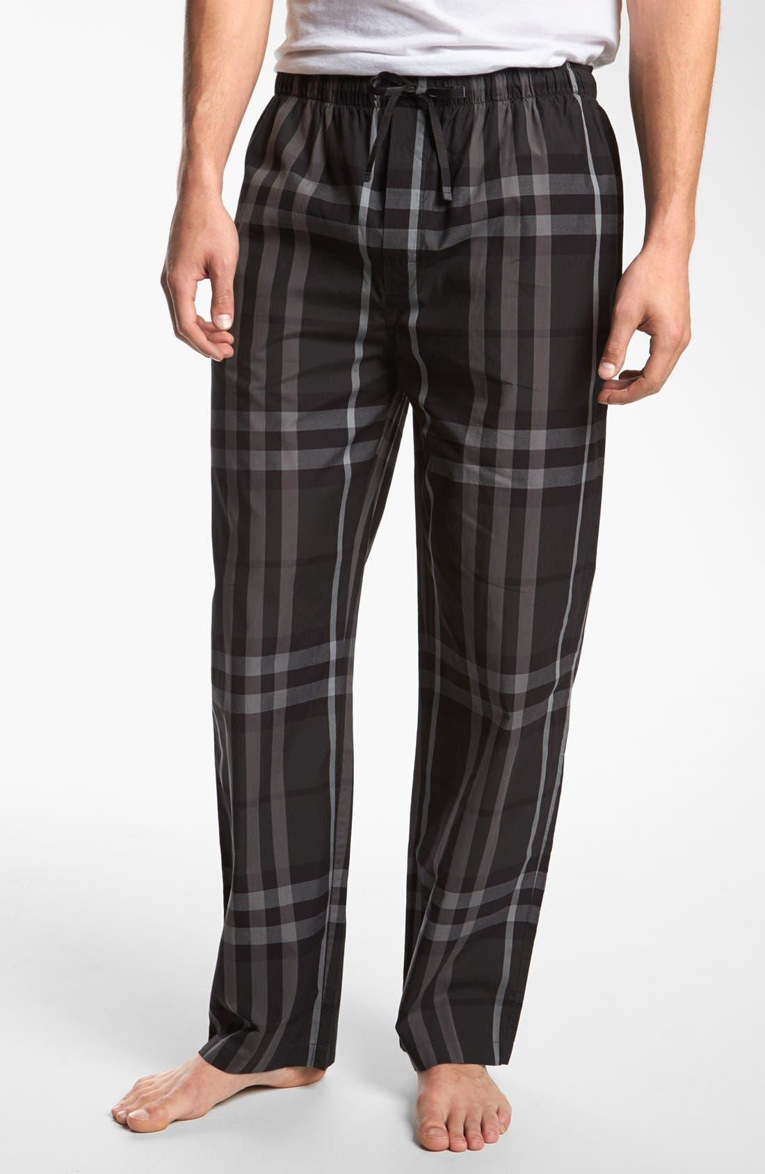 Main Image - Burberry Check Cotton Pajama Pants