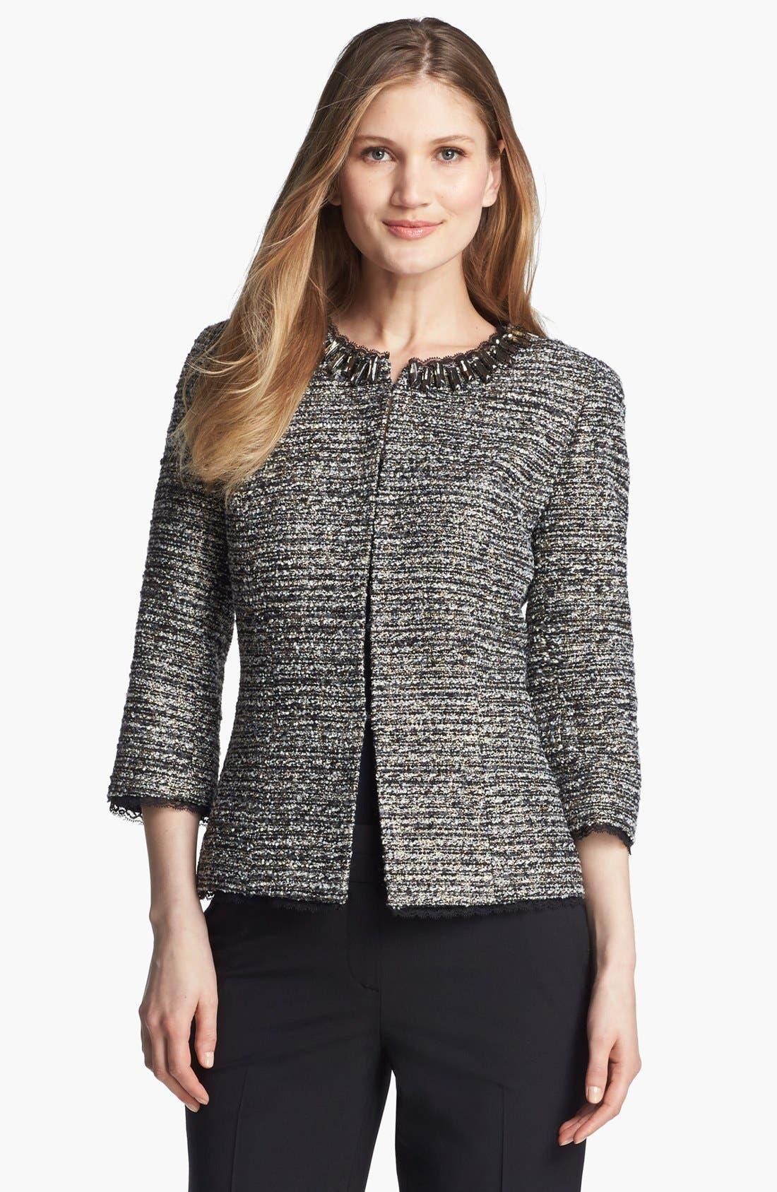 Main Image - Classiques Entier® 'Lavish Bouclé' Embellished Jacket