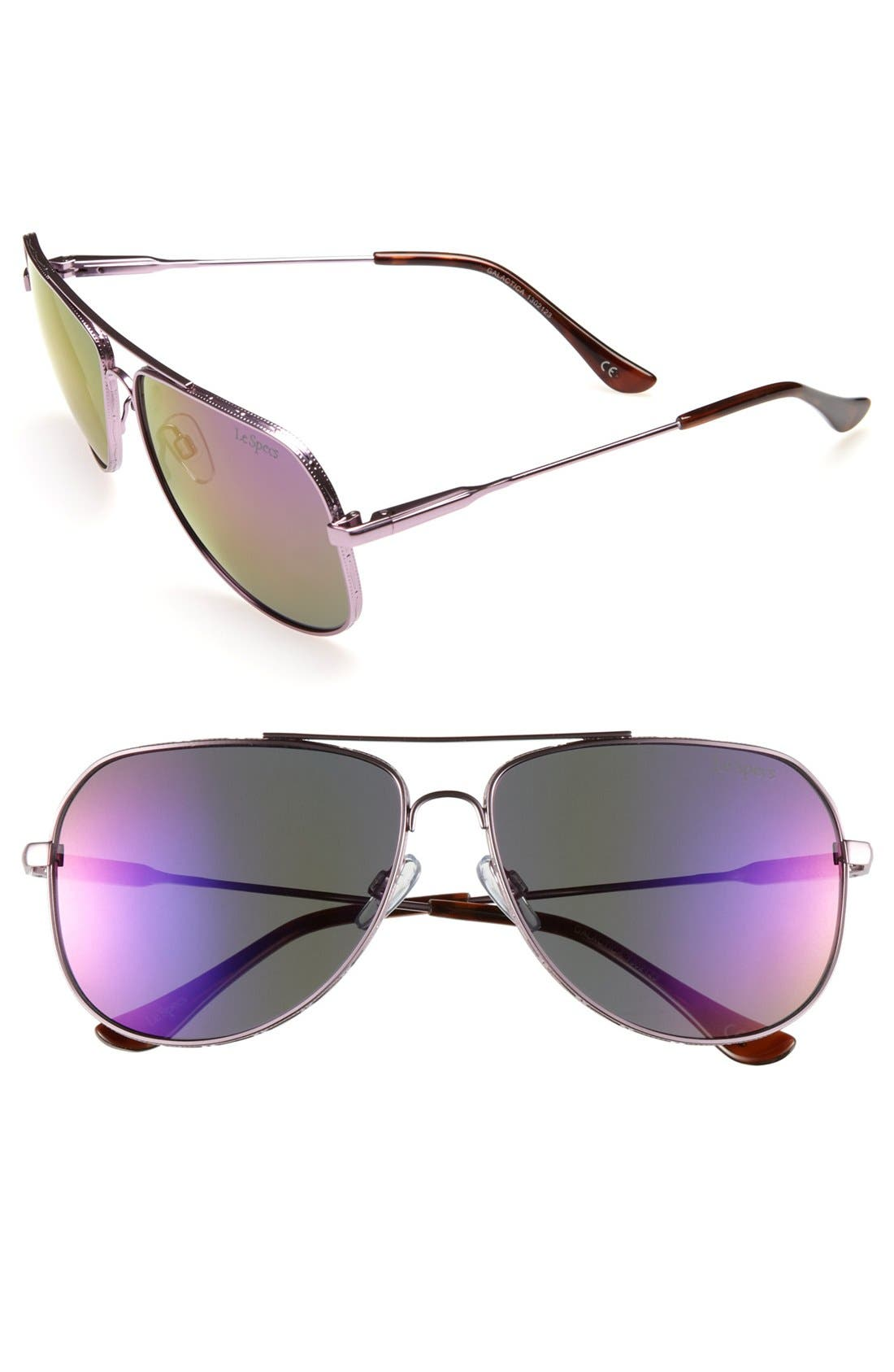 Alternate Image 1 Selected - Le Specs 'Galactica' Aviator Sunglasses