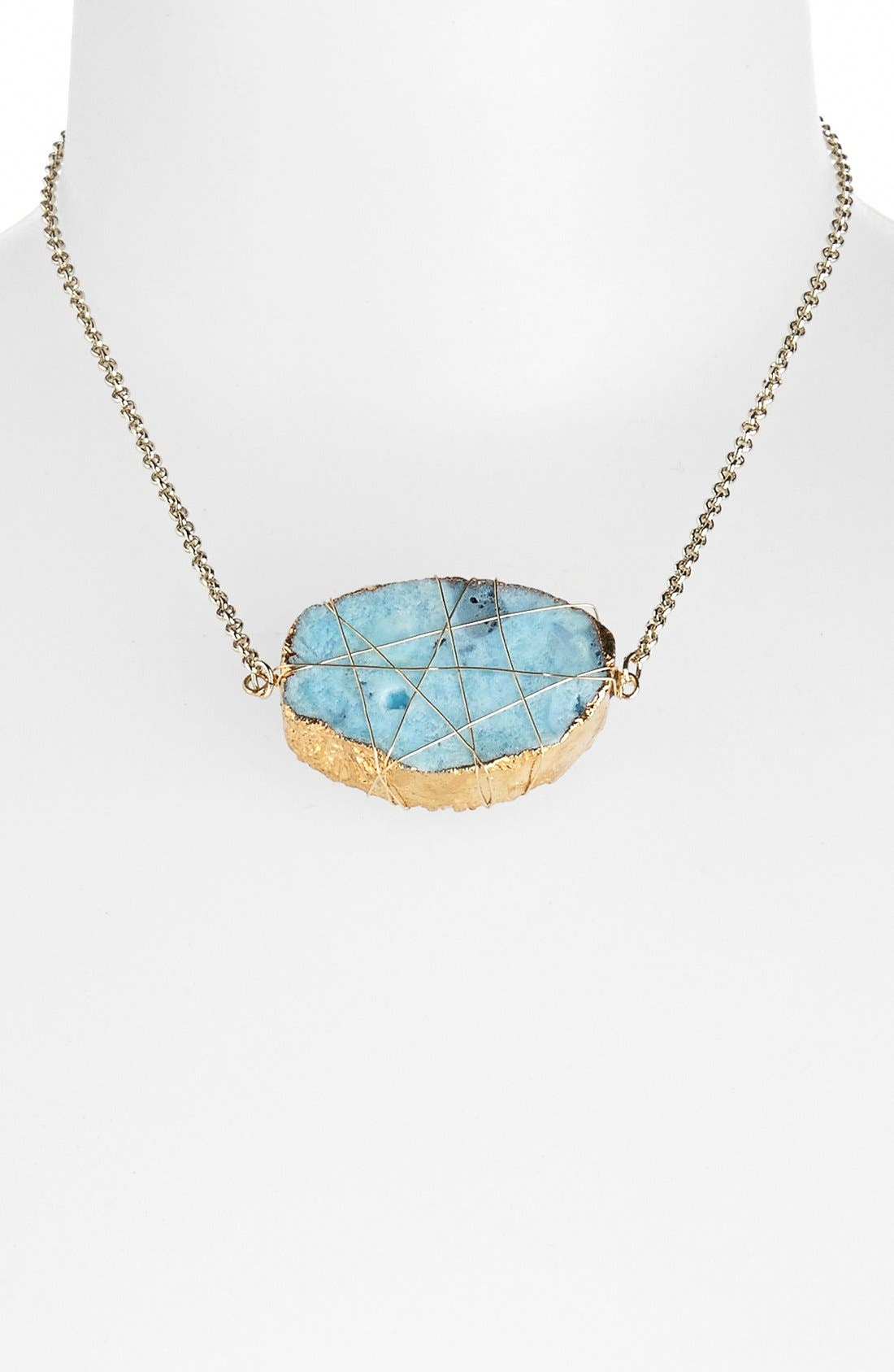 Alternate Image 1 Selected - Rachel Natural Stone Statement Necklace (Juniors)