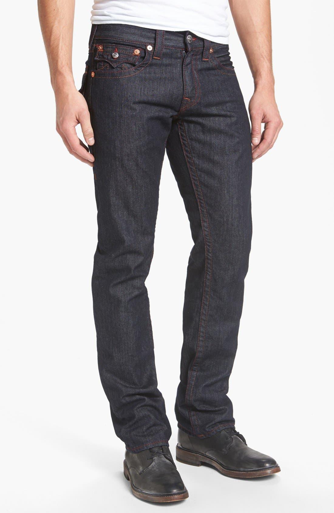 Alternate Image 2  - True Religion Brand Jeans 'Ricky' Straight Leg Jeans (Body Rinse)