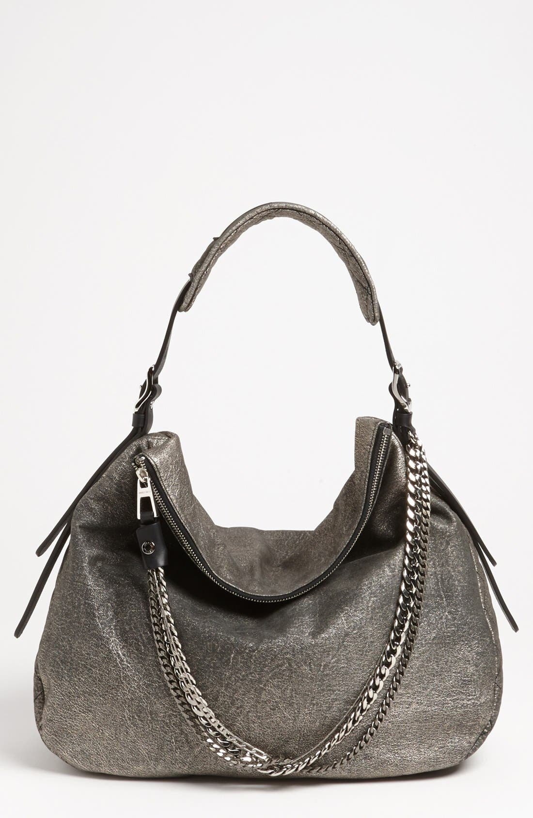 Main Image - Jimmy Choo 'Large Boho' Metallic Suede Hobo