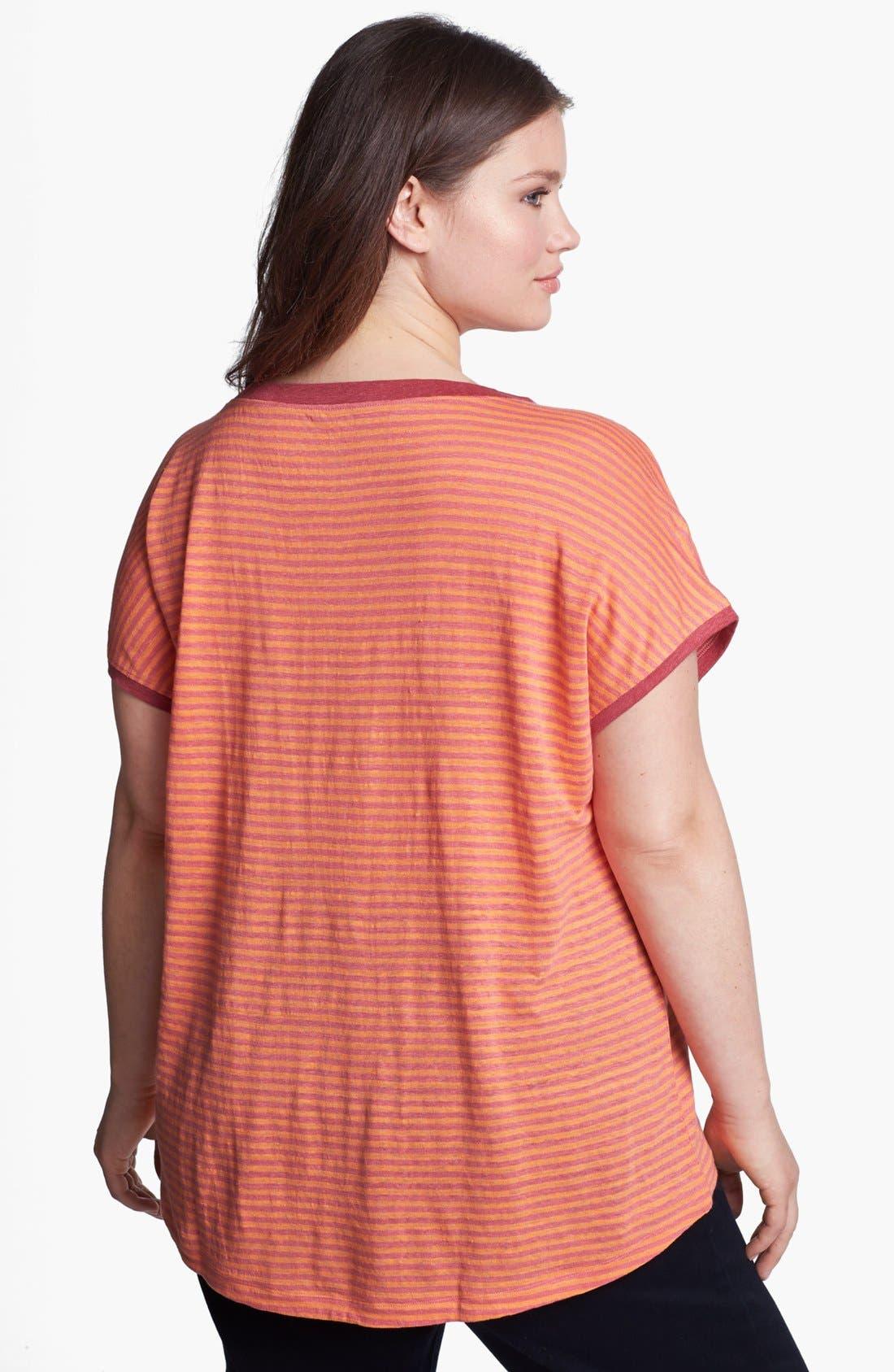 Alternate Image 2  - Eileen Fisher Stripe Linen Top (Plus Size)