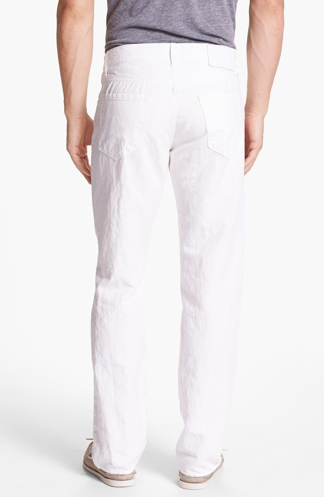 Alternate Image 2  - BOSS HUGO BOSS 'Maine' Five Pocket Cotton & Linen Pants