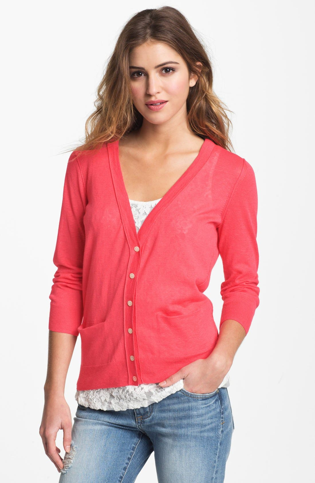 Main Image - Caslon® V-Neck Cardigan