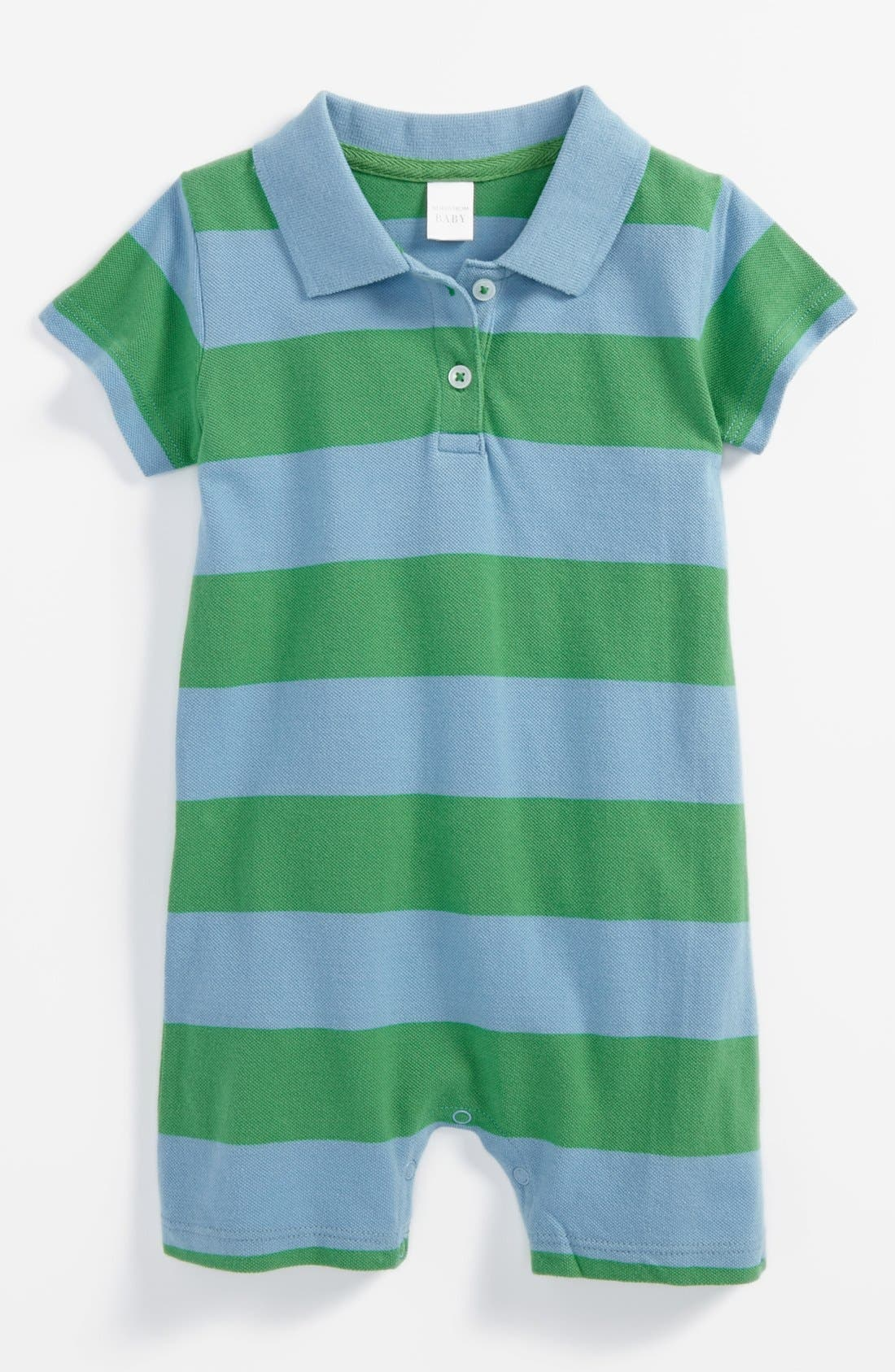 Alternate Image 1 Selected - Nordstrom Baby Stripe Romper (Baby Boys)